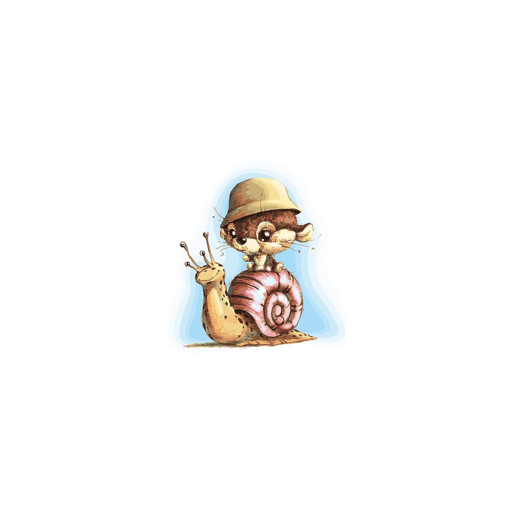Живопись на холсте Улитка 30*40 смРаскраски по номерам<br>Характеристики:<br><br>• Предназначение: для занятий художественным творчеством<br>• Тематика: животные<br>• Пол: универсальный<br>• Материал: дерево, бумага, краски<br>• Цвет: голубой, коричневый, розовый, желтый и др.<br>• Комплектация: холст на подрамнике, набор акриловых красок, 3 кисти, пробный лист с нанесенным рисунком, крепление для готовой картины, инструкция<br>• Размеры (Ш*Д): 30*40 см<br>• Вес: 480 г <br>• Упаковка: картонная коробка<br><br>Живопись на холсте 30*40 см Улитка – это набор от торговой марки Белоснежка, специализирующейся на товарах для творчества и рукоделия. Комплект для живописи состоит из черно-белого холста на подрамнике из дерева, набора необходимых акриловых красок, трех кистей разного размера и пробного листа. На холст и пробный лист нанесен рисунок с указанием номера соответствующей цвету краски. Акриловые краски хорошо ложатся на холст, не растекаются и не смешиваются, что делает их идеальными для начинающих художников. Все материалы, используемые в наборе, экологичные и натуральные. Готовые наборы научат вашего ребенка сочетать цвета и оттенки, действовать по заданному образцу, будут способствовать развитию внимательности, усидчивости и зрительному восприятию. <br>Занятия художественным творчеством являются не только средством творческого и эстетического развития, но также воспитания и коррекции эмоциональных комплексов у детей. <br><br>С наборами живописи на холсте от Белоснежки можно создать свою галерею картин или подготовить подарок родным и близким к празднованию торжества.<br><br>Живопись на холсте 30*40 см Улитка можно купить в нашем интернет-магазине.<br><br>Ширина мм: 410<br>Глубина мм: 310<br>Высота мм: 25<br>Вес г: 567<br>Возраст от месяцев: 72<br>Возраст до месяцев: 144<br>Пол: Унисекс<br>Возраст: Детский<br>SKU: 5089709