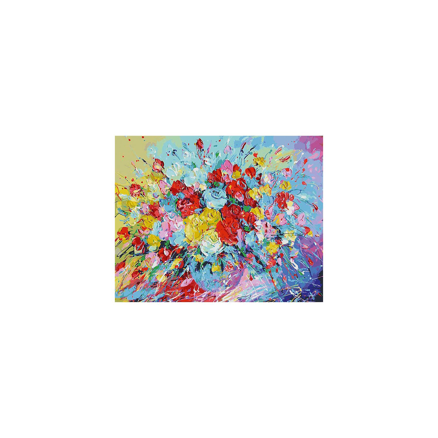 Живопись на холсте 40*50 см Фейерверк из розХарактеристики товара:<br><br>• цвет: разноцветный<br>• материал: акрил, картон<br>• размер: 50 x 40 см<br>• комплектация: полотно на подрамнике с контурами рисунка, пробный лист с рисунком, набор акриловых красок, три кисти, крепление на стену для картины<br>• для детей от шести лет и взрослых<br>• не требует специальных навыков<br>• страна бренда: Китай<br>• страна изготовитель: Китай<br><br>Такой набор станет отличным подарком и для взрослого, и для ребенка! Рисование помогает развить различные навыки и просто приносит удовольствие! Чтобы вселить в ребенка уверенность в своих силах, можно предложить ему этот набор - в нем уже есть сюжет, контуры рисунка и участки с номерами, которые обозначают определенную краску из набора. Все оттенки уже готовы, задача художника - аккуратно, с помощью кисточек из набора, нанести краски на определенный участок полотна.<br>Взрослым также понравится этот процесс, рисовать можно и вместе с малышом! В итоге получается красивая картина, которой можно украсить интерьер. Рисование способствует развитию мелкой моторики, воображения, цветовосприятия, творческих способностей и усидчивости. Набор отлично проработан, сделан из качественных и проверенных материалов, которые безопасны для детей. Краски - акриловые, они быстро сохнут и легко смываются с кожи.<br><br>Живопись на холсте 40*50 см Фейерверк из роз от торговой марки Белоснежка можно купить в нашем интернет-магазине.<br><br>Ширина мм: 510<br>Глубина мм: 410<br>Высота мм: 25<br>Вес г: 850<br>Возраст от месяцев: 72<br>Возраст до месяцев: 144<br>Пол: Унисекс<br>Возраст: Детский<br>SKU: 5089714