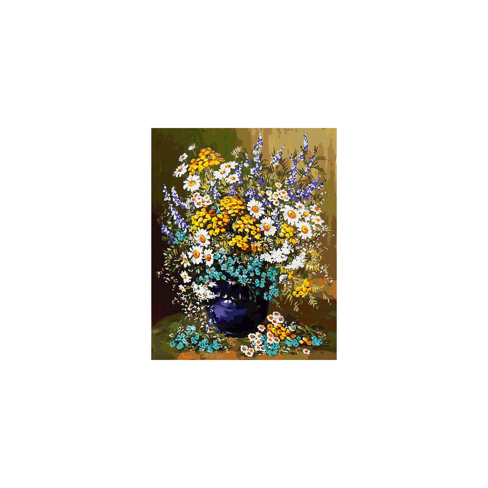 Живопись на холсте 40*50 см Букет полевых цветовРаскраски по номерам<br>Характеристики товара:<br><br>• цвет: разноцветный<br>• материал: акрил, картон<br>• размер: 50 x 40 см<br>• комплектация: полотно на подрамнике с контурами рисунка, пробный лист с рисунком, набор акриловых красок, три кисти, крепление на стену для картины<br>• для детей от шести лет и взрослых<br>• не требует специальных навыков<br>• страна бренда: Китай<br>• страна изготовитель: Китай<br><br>Такой набор станет отличным подарком и для взрослого, и для ребенка! Рисование помогает развить различные навыки и просто приносит удовольствие! Чтобы вселить в ребенка уверенность в своих силах, можно предложить ему этот набор - в нем уже есть сюжет, контуры рисунка и участки с номерами, которые обозначают определенную краску из набора. Все оттенки уже готовы, задача художника - аккуратно, с помощью кисточек из набора, нанести краски на определенный участок полотна.<br>Взрослым также понравится этот процесс, рисовать можно и вместе с малышом! В итоге получается красивая картина, которой можно украсить интерьер. Рисование способствует развитию мелкой моторики, воображения, цветовосприятия, творческих способностей и усидчивости. Набор отлично проработан, сделан из качественных и проверенных материалов, которые безопасны для детей. Краски - акриловые, они быстро сохнут и легко смываются с кожи.<br><br>Живопись на холсте 40*50 см Букет полевых цветов от торговой марки Белоснежка можно купить в нашем интернет-магазине.<br><br>Ширина мм: 510<br>Глубина мм: 410<br>Высота мм: 25<br>Вес г: 850<br>Возраст от месяцев: 72<br>Возраст до месяцев: 144<br>Пол: Унисекс<br>Возраст: Детский<br>SKU: 5089721