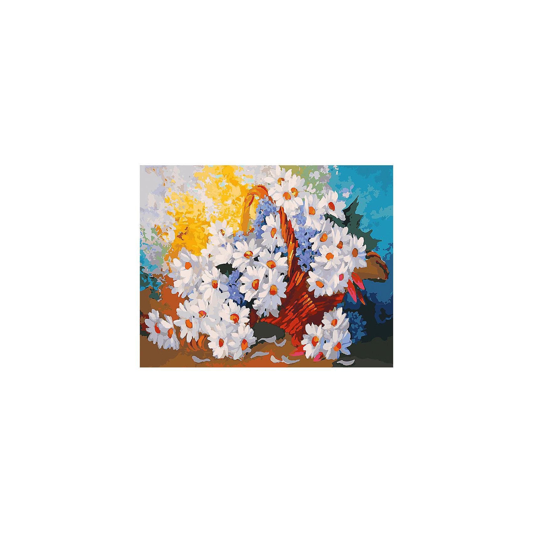 Живопись на холсте 40*50 см Корзинка с ромашкамиРаскраски по номерам<br>Характеристики товара:<br><br>• цвет: разноцветный<br>• материал: акрил, картон<br>• размер: 50 x 40 см<br>• комплектация: полотно на подрамнике с контурами рисунка, пробный лист с рисунком, набор акриловых красок, три кисти, крепление на стену для картины<br>• для детей от шести лет и взрослых<br>• не требует специальных навыков<br>• страна бренда: Китай<br>• страна изготовитель: Китай<br><br>Такой набор станет отличным подарком и для взрослого, и для ребенка! Рисование помогает развить различные навыки и просто приносит удовольствие! Чтобы вселить в ребенка уверенность в своих силах, можно предложить ему этот набор - в нем уже есть сюжет, контуры рисунка и участки с номерами, которые обозначают определенную краску из набора. Все оттенки уже готовы, задача художника - аккуратно, с помощью кисточек из набора, нанести краски на определенный участок полотна.<br>Взрослым также понравится этот процесс, рисовать можно и вместе с малышом! В итоге получается красивая картина, которой можно украсить интерьер. Рисование способствует развитию мелкой моторики, воображения, цветовосприятия, творческих способностей и усидчивости. Набор отлично проработан, сделан из качественных и проверенных материалов, которые безопасны для детей. Краски - акриловые, они быстро сохнут и легко смываются с кожи.<br><br>Живопись на холсте 40*50 см Корзинка с ромашками от торговой марки Белоснежка можно купить в нашем интернет-магазине.<br><br>Ширина мм: 510<br>Глубина мм: 410<br>Высота мм: 25<br>Вес г: 850<br>Возраст от месяцев: 72<br>Возраст до месяцев: 144<br>Пол: Унисекс<br>Возраст: Детский<br>SKU: 5089726