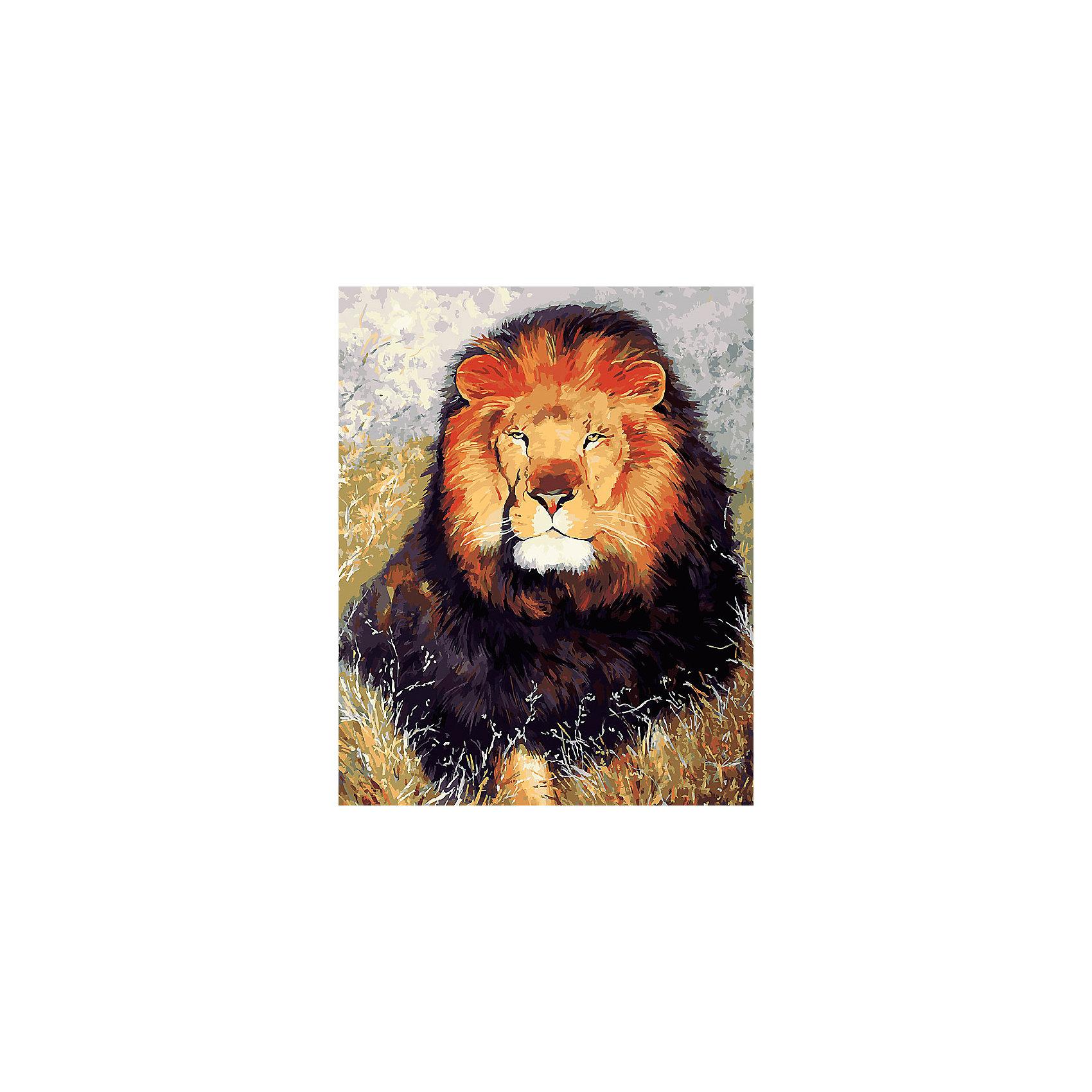 Белоснежка Живопись на холсте 40*50 см Царь зверей