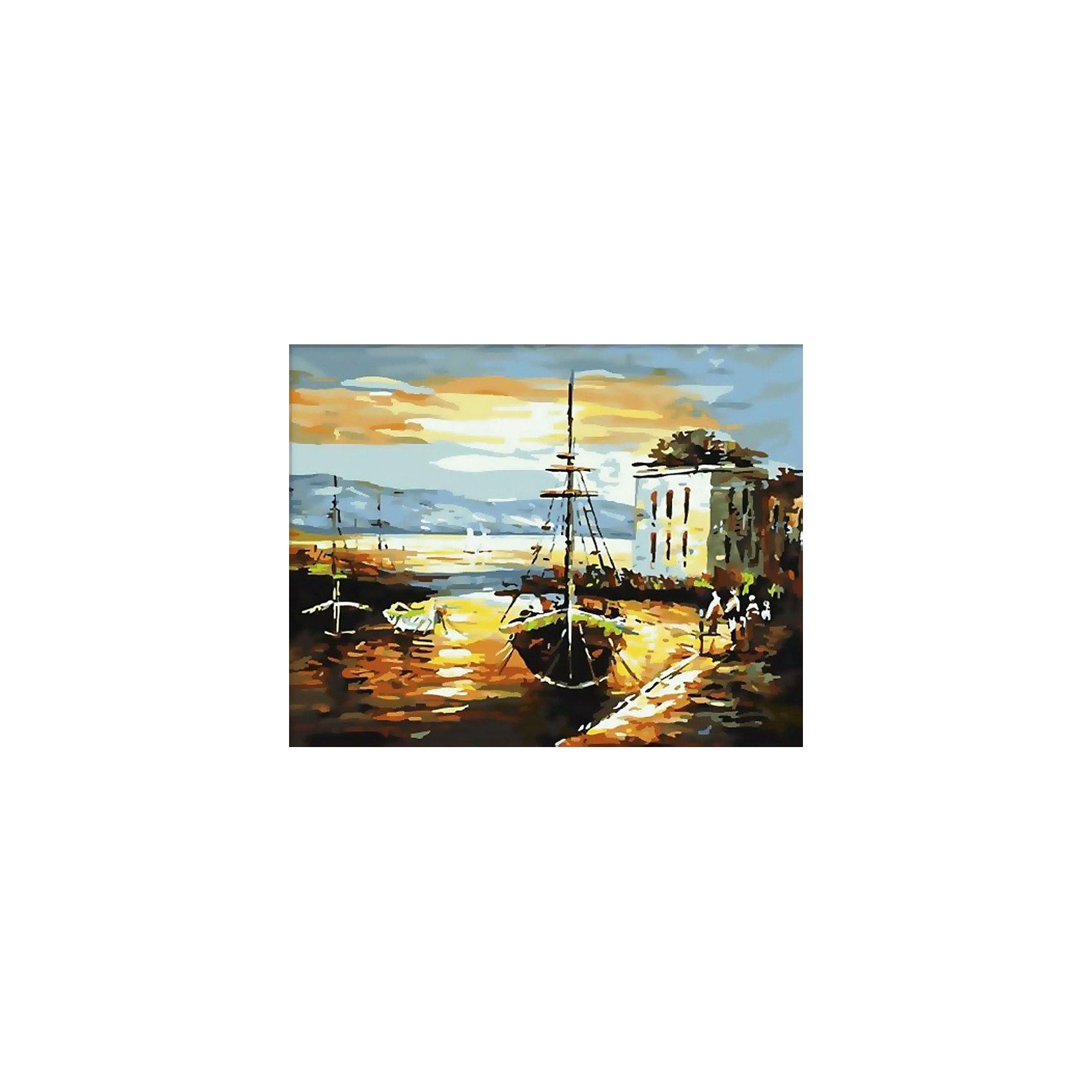 Живопись на холсте 40*50 см Рыбацкий баркасРаскраски по номерам<br>Характеристики товара:<br><br>• цвет: разноцветный<br>• материал: акрил, картон<br>• размер: 50 x 40 см<br>• комплектация: полотно на подрамнике с контурами рисунка, пробный лист с рисунком, набор акриловых красок, три кисти, крепление на стену для картины<br>• для детей от шести лет и взрослых<br>• не требует специальных навыков<br>• страна бренда: Китай<br>• страна изготовитель: Китай<br><br>Такой набор станет отличным подарком и для взрослого, и для ребенка! Рисование помогает развить различные навыки и просто приносит удовольствие! Чтобы вселить в ребенка уверенность в своих силах, можно предложить ему этот набор - в нем уже есть сюжет, контуры рисунка и участки с номерами, которые обозначают определенную краску из набора. Все оттенки уже готовы, задача художника - аккуратно, с помощью кисточек из набора, нанести краски на определенный участок полотна.<br>Взрослым также понравится этот процесс, рисовать можно и вместе с малышом! В итоге получается красивая картина, которой можно украсить интерьер. Рисование способствует развитию мелкой моторики, воображения, цветовосприятия, творческих способностей и усидчивости. Набор отлично проработан, сделан из качественных и проверенных материалов, которые безопасны для детей. Краски - акриловые, они быстро сохнут и легко смываются с кожи.<br><br>Живопись на холсте 40*50 см Рыбацкий баркас от торговой марки Белоснежка можно купить в нашем интернет-магазине.<br><br>Ширина мм: 510<br>Глубина мм: 410<br>Высота мм: 25<br>Вес г: 850<br>Возраст от месяцев: 72<br>Возраст до месяцев: 144<br>Пол: Унисекс<br>Возраст: Детский<br>SKU: 5089734