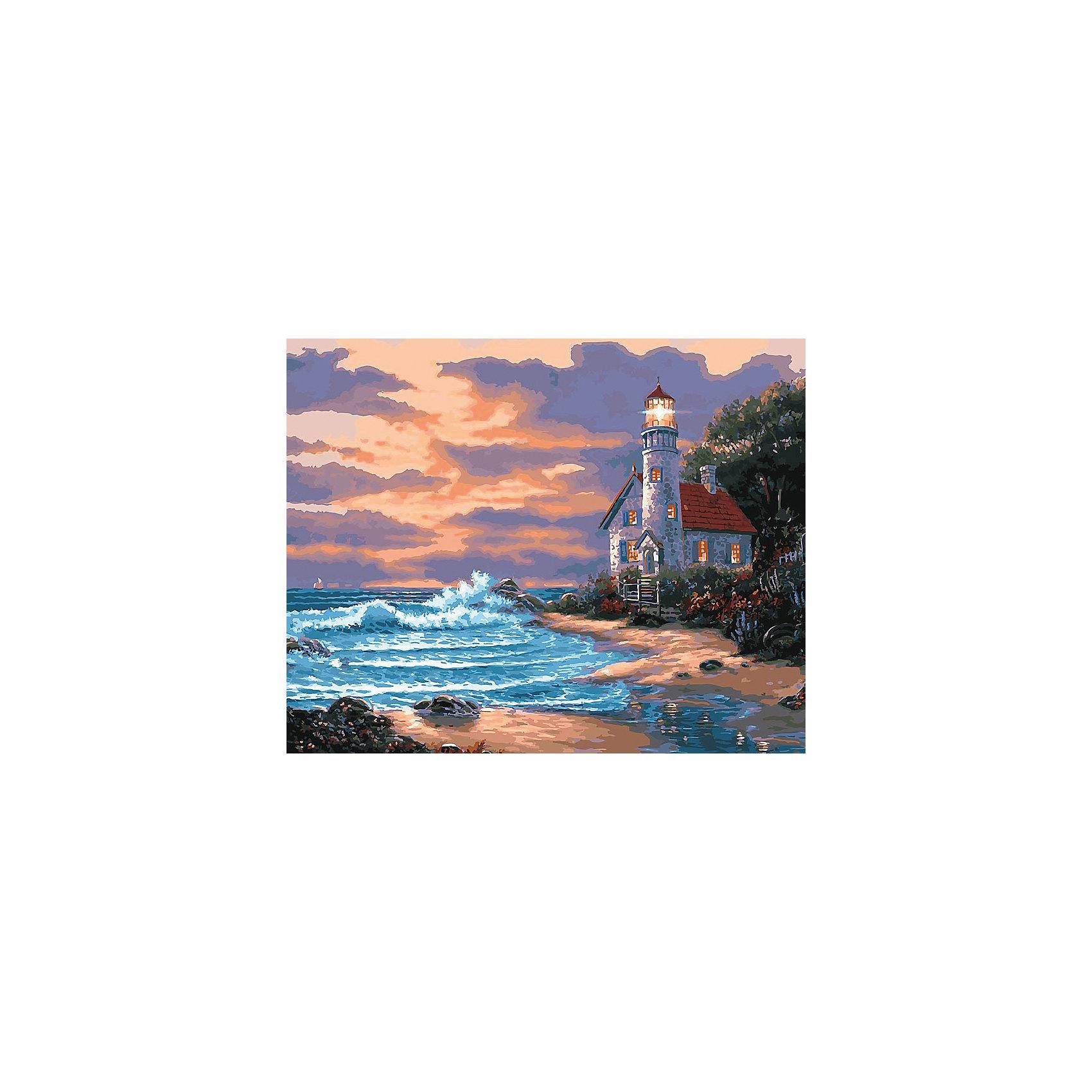 Живопись на холсте 40*50 см Дом с маякомРисование<br>Характеристики товара:<br><br>• цвет: разноцветный<br>• материал: акрил, картон<br>• размер: 50 x 40 см<br>• комплектация: полотно на подрамнике с контурами рисунка, пробный лист с рисунком, набор акриловых красок, три кисти, крепление на стену для картины<br>• для детей от шести лет и взрослых<br>• не требует специальных навыков<br>• страна бренда: Китай<br>• страна изготовитель: Китай<br><br>Такой набор станет отличным подарком и для взрослого, и для ребенка! Рисование помогает развить различные навыки и просто приносит удовольствие! Чтобы вселить в ребенка уверенность в своих силах, можно предложить ему этот набор - в нем уже есть сюжет, контуры рисунка и участки с номерами, которые обозначают определенную краску из набора. Все оттенки уже готовы, задача художника - аккуратно, с помощью кисточек из набора, нанести краски на определенный участок полотна.<br>Взрослым также понравится этот процесс, рисовать можно и вместе с малышом! В итоге получается красивая картина, которой можно украсить интерьер. Рисование способствует развитию мелкой моторики, воображения, цветовосприятия, творческих способностей и усидчивости. Набор отлично проработан, сделан из качественных и проверенных материалов, которые безопасны для детей. Краски - акриловые, они быстро сохнут и легко смываются с кожи.<br><br>Живопись на холсте 40*50 см Дом с маяком от торговой марки Белоснежка можно купить в нашем интернет-магазине.<br><br>Ширина мм: 510<br>Глубина мм: 410<br>Высота мм: 25<br>Вес г: 850<br>Возраст от месяцев: 72<br>Возраст до месяцев: 144<br>Пол: Унисекс<br>Возраст: Детский<br>SKU: 5089738