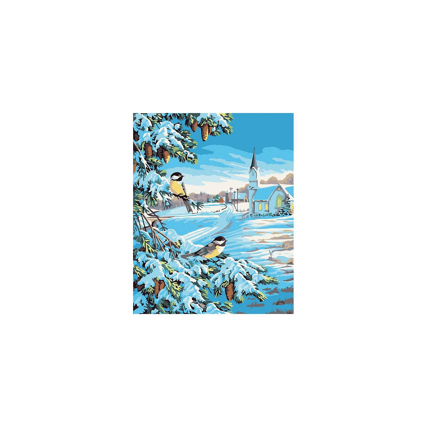 Живопись на холсте 40*50 см Снежная зимаХарактеристики товара:<br><br>• цвет: разноцветный<br>• материал: акрил, картон<br>• размер: 50 x 40 см<br>• комплектация: полотно на подрамнике с контурами рисунка, пробный лист с рисунком, набор акриловых красок, три кисти, крепление на стену для картины<br>• для детей от шести лет и взрослых<br>• не требует специальных навыков<br>• страна бренда: Китай<br>• страна изготовитель: Китай<br><br>Думаете, какой подарок выбрать к празднику? Рисование - это занятие, которое любят многие дети и взрослые. Оно помогает развить различные навыки и просто приносит удовольствие! Чтобы вселить в ребенка уверенность в своих силах, можно предложить ему этот набор - в нем уже есть сюжет, контуры рисунка и участки с номерами, которые обозначают определенную краску из набора. Все оттенки уже готовы, задача художника - аккуратно, с помощью кисточек из набора, нанести краски на определенный участок полотна.<br>Взрослым также понравится этот процесс, рисовать можно и вместе с малышом! В итоге получается красивая картина, которой можно украсить интерьер. Рисование способствует развитию мелкой моторики, воображения, цветовосприятия, творческих способностей и усидчивости. Набор отлично проработан, сделан из качественных и проверенных материалов, которые безопасны для детей. Краски - акриловые, они быстро сохнут и легко смываются с кожи.<br><br>Живопись на холсте 40*50 см Снежная зима от торговой марки Белоснежка можно купить в нашем интернет-магазине.<br><br>Ширина мм: 510<br>Глубина мм: 410<br>Высота мм: 25<br>Вес г: 850<br>Возраст от месяцев: 72<br>Возраст до месяцев: 144<br>Пол: Унисекс<br>Возраст: Детский<br>SKU: 5089740