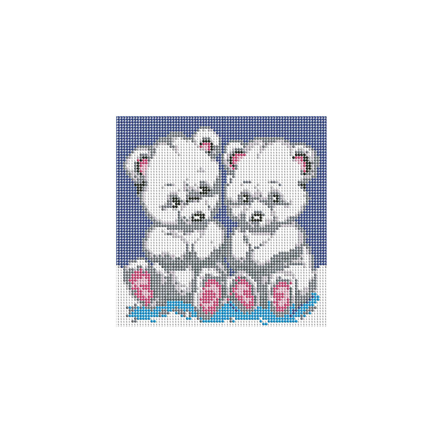 Мозаика на подрамнике МедвежатаХарактеристики:<br><br>• Предназначение: для творческих занятий<br>• Тематика: животные<br>• Пол: для девочек<br>• Материал: дерево, бумага, пластик<br>• Цвет: синий, белый, серый, розовый, черный и др.<br>• Количество цветов: 9<br>• Комплектация: холст на подрамнике, стразы, пинцет, карандаш для камней, клей, лоток для камней инструкция<br>• Размеры готовой работы (Ш*Д): 20*20 см<br>• Тип выкладки камней: сплошное заполнение рисунка<br>• Стразы квадратные формы ограненные<br>• Вес: 1 кг 100 г <br>• Упаковка: картонная коробка<br><br>Мозаика на подрамнике Медвежата – это набор от торговой марки Белоснежка, специализирующейся на товарах для творчества и рукоделия. Комплект для мозаики состоит из холста на деревянном подрамнике, набора необходимых камней и приспособлений для их выкладки. На холст нанесен рисунок с указанием цвета камней. С помощью пинцета выкладывается картина способом сплошного заполнения, что создает реалистичность изображения. Все материалы, используемые в наборе, экологичные и натуральные. Готовые наборы научат вашего ребенка сочетать цвета и оттенки, действовать по заданному образцу, будут способствовать развитию внимательности, усидчивости и зрительному восприятию. <br>Занятия художественным творчеством являются не только средством творческого и эстетического развития, но также воспитания и коррекции эмоциональных комплексов у детей и подростков. <br><br>С наборами от Белоснежки можно создать как отдельную картину, так и использовать поделку в качестве оригинального и яркого аксессуара для оформления интерьера или других более крупных предметов и поделок.<br><br>Мозаику на подрамнике Медвежата можно купить в нашем интернет-магазине.<br><br>Ширина мм: 210<br>Глубина мм: 210<br>Высота мм: 25<br>Вес г: 826<br>Возраст от месяцев: 144<br>Возраст до месяцев: 192<br>Пол: Женский<br>Возраст: Детский<br>SKU: 5089765
