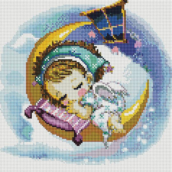 Мозаика на подрамнике Нежный сонМозаика детская<br>Характеристики:<br><br>• Предназначение: для творческих занятий<br>• Тематика: ангелочки<br>• Пол: для девочек<br>• Материал: дерево, бумага, пластик<br>• Цвет: желтый, белый, синий, голубой, розовый и др.<br>• Количество цветов: 38<br>• Комплектация: холст на подрамнике, стразы, пинцет, карандаш для камней, клей, лоток для камней инструкция<br>• Размеры готовой работы (Ш*Д): 30*30 см<br>• Тип выкладки камней: сплошное заполнение рисунка<br>• Стразы квадратные формы ограненные<br>• Вес: 760 г <br>• Упаковка: картонная коробка<br><br>Мозаика на подрамнике Нежный сон – это набор от торговой марки Белоснежка, специализирующейся на товарах для творчества и рукоделия. Комплект для мозаики состоит из холста на деревянном подрамнике, набора необходимых камней и приспособлений для их выкладки. На холст нанесен рисунок с указанием цвета камней. С помощью пинцета выкладывается картина способом сплошного заполнения, что создает реалистичность изображения. Все материалы, используемые в наборе, экологичные и натуральные. Готовые наборы научат вашего ребенка сочетать цвета и оттенки, действовать по заданному образцу, будут способствовать развитию внимательности, усидчивости и зрительному восприятию. <br>Занятия художественным творчеством являются не только средством творческого и эстетического развития, но также воспитания и коррекции эмоциональных комплексов у детей и подростков. <br><br>С наборами от Белоснежки можно создать как отдельную картину, так и использовать поделку в качестве оригинального и яркого аксессуара для оформления интерьера или других более крупных предметов и поделок.<br><br>Мозаику на подрамнике Нежный сон можно купить в нашем интернет-магазине.<br>Ширина мм: 310; Глубина мм: 310; Высота мм: 25; Вес г: 767; Возраст от месяцев: 144; Возраст до месяцев: 192; Пол: Женский; Возраст: Детский; SKU: 5089767;