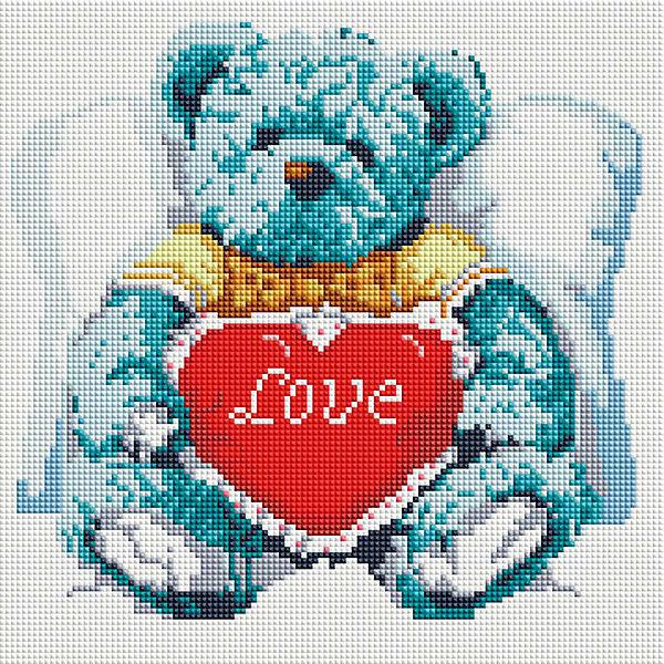 Мозаика на подрамнике Медвежонок с сердцемМозаика детская<br>Характеристики:<br><br>• Предназначение: для творческих занятий<br>• Тематика: животные<br>• Пол: для девочек<br>• Материал: дерево, бумага, пластик<br>• Цвет: белый, голубой, синий, черный, красный и др.<br>• Количество цветов: 17<br>• Комплектация: холст на подрамнике, стразы, пинцет, карандаш для камней, клей, лоток для камней инструкция<br>• Размеры готовой работы (Ш*Д): 30*30 см<br>• Тип выкладки камней: сплошное заполнение рисунка<br>• Стразы квадратной формы ограненные<br>• Вес: 870 г <br>• Упаковка: картонная коробка<br><br>Мозаика на подрамнике Медвежонок с сердцем – это набор от торговой марки Белоснежка, специализирующейся на товарах для творчества и рукоделия. Комплект для мозаики состоит из холста на деревянном подрамнике, набора необходимых камней и приспособлений для их выкладки. На холст нанесен рисунок с указанием цвета камней. С помощью пинцета выкладывается картина способом сплошного заполнения, что создает реалистичность изображения. Все материалы, используемые в наборе, экологичные и натуральные. Готовые наборы научат вашего ребенка сочетать цвета и оттенки, действовать по заданному образцу, будут способствовать развитию внимательности, усидчивости и зрительному восприятию. <br>Занятия художественным творчеством являются не только средством творческого и эстетического развития, но также воспитания и коррекции эмоциональных комплексов у детей и подростков. <br><br>С наборами от Белоснежки можно создать как отдельную картину, так и использовать поделку в качестве оригинального и яркого аксессуара для оформления интерьера или других более крупных предметов и поделок.<br><br>Мозаику на подрамнике Медвежонок с сердцем можно купить в нашем интернет-магазине.<br><br>Ширина мм: 310<br>Глубина мм: 310<br>Высота мм: 25<br>Вес г: 767<br>Возраст от месяцев: 144<br>Возраст до месяцев: 192<br>Пол: Женский<br>Возраст: Детский<br>SKU: 5089772