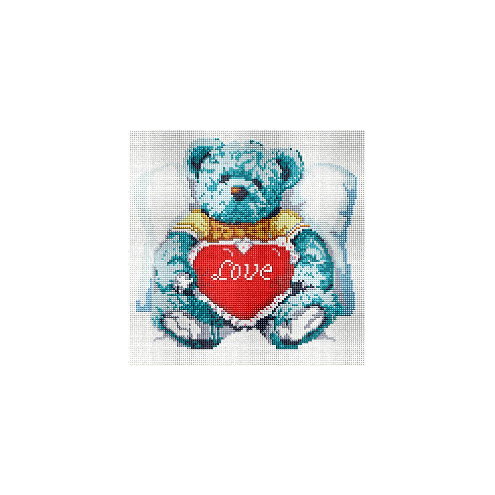 Мозаика на подрамнике Медвежонок с сердцемМозаика<br>Характеристики:<br><br>• Предназначение: для творческих занятий<br>• Тематика: животные<br>• Пол: для девочек<br>• Материал: дерево, бумага, пластик<br>• Цвет: белый, голубой, синий, черный, красный и др.<br>• Количество цветов: 17<br>• Комплектация: холст на подрамнике, стразы, пинцет, карандаш для камней, клей, лоток для камней инструкция<br>• Размеры готовой работы (Ш*Д): 30*30 см<br>• Тип выкладки камней: сплошное заполнение рисунка<br>• Стразы квадратной формы ограненные<br>• Вес: 870 г <br>• Упаковка: картонная коробка<br><br>Мозаика на подрамнике Медвежонок с сердцем – это набор от торговой марки Белоснежка, специализирующейся на товарах для творчества и рукоделия. Комплект для мозаики состоит из холста на деревянном подрамнике, набора необходимых камней и приспособлений для их выкладки. На холст нанесен рисунок с указанием цвета камней. С помощью пинцета выкладывается картина способом сплошного заполнения, что создает реалистичность изображения. Все материалы, используемые в наборе, экологичные и натуральные. Готовые наборы научат вашего ребенка сочетать цвета и оттенки, действовать по заданному образцу, будут способствовать развитию внимательности, усидчивости и зрительному восприятию. <br>Занятия художественным творчеством являются не только средством творческого и эстетического развития, но также воспитания и коррекции эмоциональных комплексов у детей и подростков. <br><br>С наборами от Белоснежки можно создать как отдельную картину, так и использовать поделку в качестве оригинального и яркого аксессуара для оформления интерьера или других более крупных предметов и поделок.<br><br>Мозаику на подрамнике Медвежонок с сердцем можно купить в нашем интернет-магазине.<br><br>Ширина мм: 310<br>Глубина мм: 310<br>Высота мм: 25<br>Вес г: 767<br>Возраст от месяцев: 144<br>Возраст до месяцев: 192<br>Пол: Женский<br>Возраст: Детский<br>SKU: 5089772