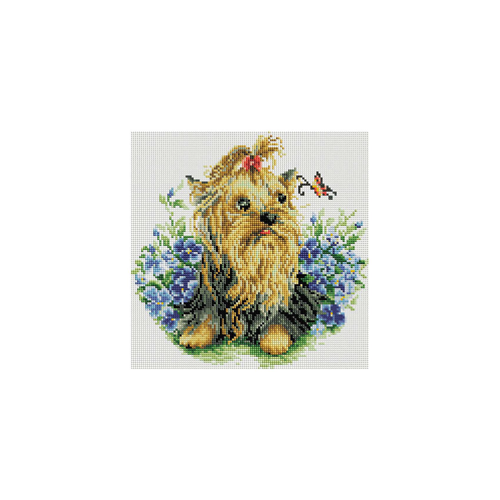 Мозаика на подрамнике Йоркширский терьерМозаика детская<br>Характеристики:<br><br>• Предназначение: для творческих занятий<br>• Тематика: животные<br>• Пол: для девочек<br>• Материал: дерево, бумага, пластик<br>• Цвет: желтый, коричневый, зеленый, голубой, синий и др.<br>• Количество цветов: 26<br>• Комплектация: холст на подрамнике, стразы, пинцет, карандаш для камней, клей, лоток для камней инструкция<br>• Размеры готовой работы (Ш*Д): 30*30 см<br>• Тип выкладки камней: сплошное заполнение рисунка<br>• Стразы квадратной формы ограненные<br>• Вес: 870 г <br>• Упаковка: картонная коробка<br><br>Мозаика на подрамнике Йоркширский терьер – это набор от торговой марки Белоснежка, специализирующейся на товарах для творчества и рукоделия. Комплект для мозаики состоит из холста на деревянном подрамнике, набора необходимых камней и приспособлений для их выкладки. На холст нанесен рисунок с указанием цвета камней. С помощью пинцета выкладывается картина способом сплошного заполнения, что создает реалистичность изображения. Все материалы, используемые в наборе, экологичные и натуральные. Готовые наборы научат вашего ребенка сочетать цвета и оттенки, действовать по заданному образцу, будут способствовать развитию внимательности, усидчивости и зрительному восприятию. <br>Занятия художественным творчеством являются не только средством творческого и эстетического развития, но также воспитания и коррекции эмоциональных комплексов у детей и подростков. <br><br>С наборами от Белоснежки можно создать как отдельную картину, так и использовать поделку в качестве оригинального и яркого аксессуара для оформления интерьера или других более крупных предметов и поделок.<br><br>Мозаику на подрамнике Йоркширский терьер можно купить в нашем интернет-магазине.<br><br>Ширина мм: 310<br>Глубина мм: 310<br>Высота мм: 25<br>Вес г: 767<br>Возраст от месяцев: 144<br>Возраст до месяцев: 192<br>Пол: Женский<br>Возраст: Детский<br>SKU: 5089776