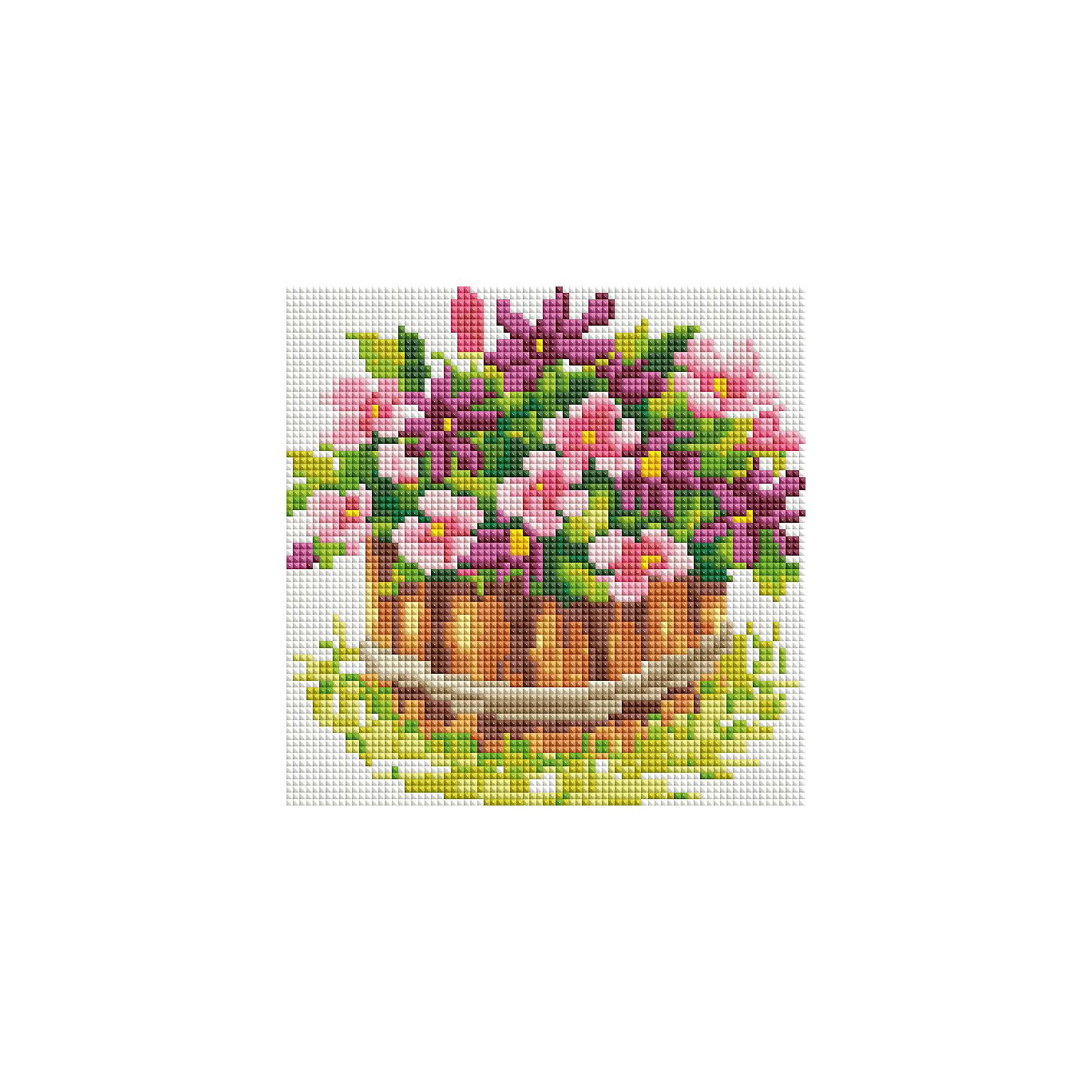 Мозаика на подрамнике Маленький цветникМозаика<br>Характеристики:<br><br>• Предназначение: для творческих занятий<br>• Тематика: цветы<br>• Пол: для девочек<br>• Материал: дерево, бумага, пластик<br>• Цвет: желтый, коричневый, зеленый, розовый, бордовый и др.<br>• Количество цветов: 25<br>• Комплектация: холст на подрамнике, стразы, пинцет, карандаш для камней, клей, лоток для камней инструкция<br>• Размеры готовой работы (Ш*Д): 20*20 см<br>• Тип выкладки камней: сплошное заполнение рисунка<br>• Стразы квадратной формы ограненные<br>• Вес: 680 г <br>• Упаковка: картонная коробка<br><br>Мозаика на подрамнике Маленький цветник – это набор от торговой марки Белоснежка, специализирующейся на товарах для творчества и рукоделия. Комплект для мозаики состоит из холста на деревянном подрамнике, набора необходимых камней и приспособлений для их выкладки. На холст нанесен рисунок с указанием цвета камней. С помощью пинцета выкладывается картина способом сплошного заполнения, что создает реалистичность изображения. Все материалы, используемые в наборе, экологичные и натуральные. Готовые наборы научат вашего ребенка сочетать цвета и оттенки, действовать по заданному образцу, будут способствовать развитию внимательности, усидчивости и зрительному восприятию. <br>Занятия художественным творчеством являются не только средством творческого и эстетического развития, но также воспитания и коррекции эмоциональных комплексов у детей и подростков. <br><br>С наборами от Белоснежки можно создать как отдельную картину, так и использовать поделку в качестве оригинального и яркого аксессуара для оформления интерьера или других более крупных предметов и поделок.<br><br>Мозаику на подрамнике Маленький цветник можно купить в нашем интернет-магазине.<br><br>Ширина мм: 210<br>Глубина мм: 210<br>Высота мм: 25<br>Вес г: 826<br>Возраст от месяцев: 144<br>Возраст до месяцев: 192<br>Пол: Женский<br>Возраст: Детский<br>SKU: 5089780