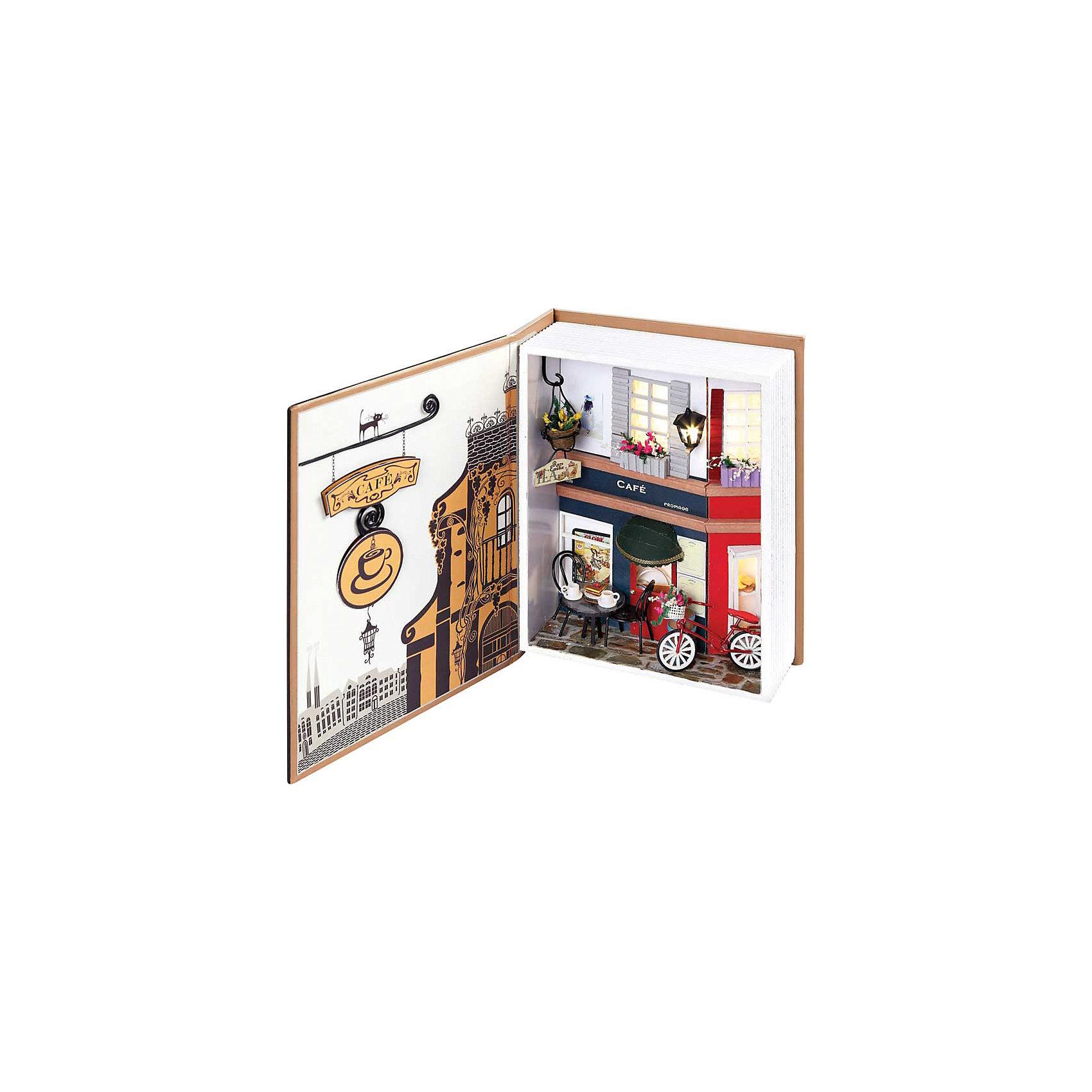 Набор для создания миниатюры Пражское кафеНабор для создания миниатюры Пражское кафе, Белоснежка.<br><br>Характеристики:<br><br>• содержит всё необходимое для создания миниатюры <br>• оригинальный дизайн: книжка-коробочка<br>• в комплекте: основа для миниатюры, клей, ножницы, пинцет, детали интерьера, диодное освещение, пошаговая инструкция. <br>• размер: 15х6х20 см<br><br>Скрапбукинг - интересное и увлекательное занятие. Вы можете создавать красивые детали для украшения интерьера своими руками. Набор Пражское кафе содержит всё необходимое для творчества: элементы декора, мебель, велосипед и даже фонарик никого не оставят равнодушными. Удобные инструменты и пошаговая инструкция помогут не ошибиться в процессе творчества. Все детали разложены в отдельные пакеты. Готовую книгу можно хранить как в открытом, так и в закрытом виде. Готовую миниатюру можно преподнести в подарок или украсить ею свой комнату.<br><br>Набор для создания миниатюры Пражское кафе вы можете купить в нашем интернет-магазине.<br><br>Ширина мм: 200<br>Глубина мм: 150<br>Высота мм: 60<br>Вес г: 669<br>Возраст от месяцев: 72<br>Возраст до месяцев: 144<br>Пол: Женский<br>Возраст: Детский<br>SKU: 5089786