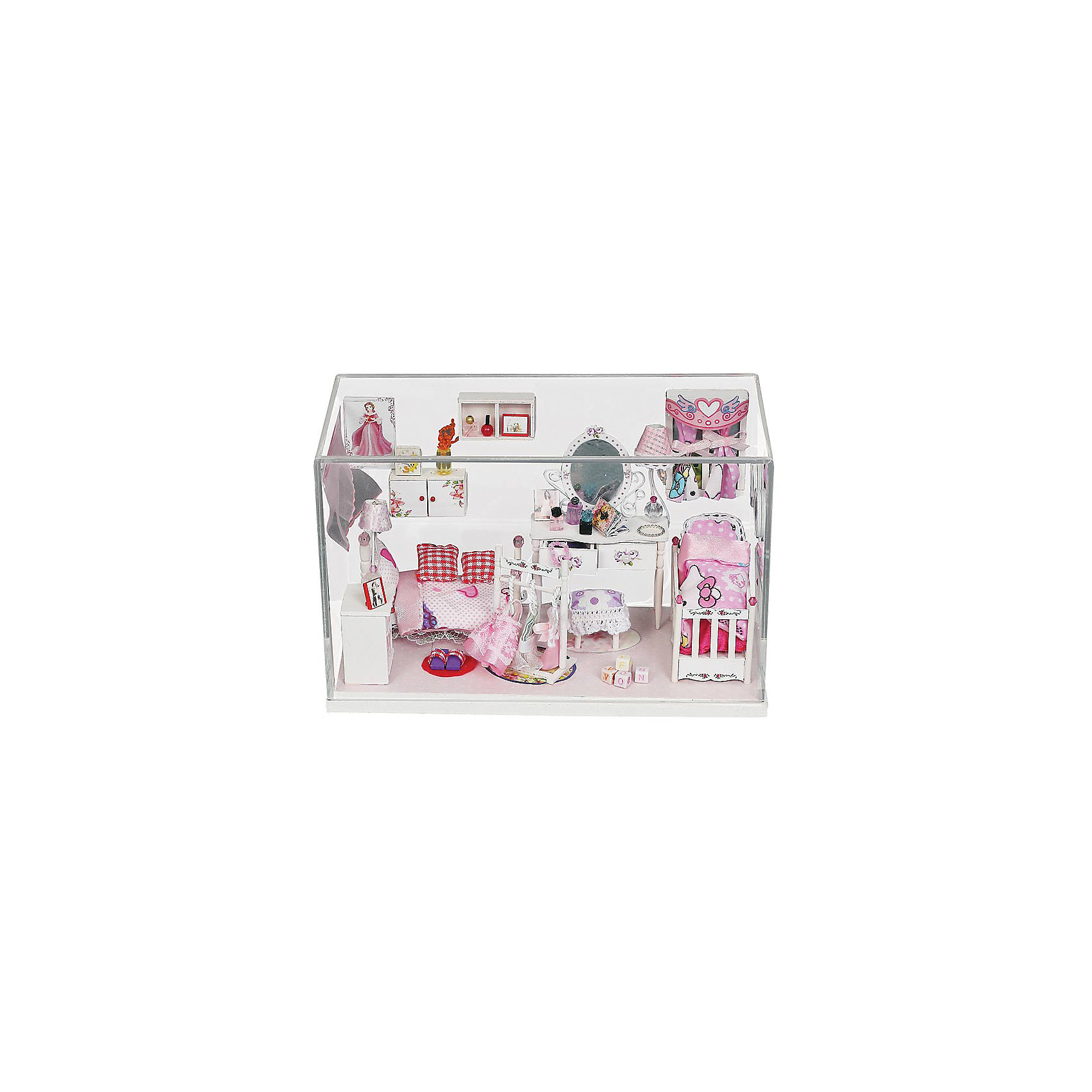 Скрапбукинг-набор для создания миниатюры Комната принцессыРукоделие<br>Скрапбукинг-набор для создания миниатюры Комната принцессы, Белоснежка.<br><br>Характеристики:<br><br>• объемная миниатюра своими руками<br>• содержит всё необходимое <br>• в комплекте: основа миниатюры, ножницы, наждачная бумага, пинцет, детали мебели, набор тканей и бумаги, пластиковые детали, веревки, проволока, бусины, высушенные цветы, клей, LED-освещение со звуковым включением, пошаговая инструкция<br>• размер: 9,5х20,5х12,4 см<br><br>Комната принцессы - потрясающий набор для скрапбукинга от торговой марки Белоснежка. С его помощью вы сможете создать объемную миниатюру, поражающую своей утонченностью. Пошаговая инструкция поможет вам в точности повторить все детали в соответствии с картинкой. Также вы можете проявить фантазию и создать свои детали миниатюры. Каждая деталь тщательно продумана: полочки, мебель, детали интерьера, постельное белье, аксессуары и даже цветы. Стеклянный футляр защитит композицию от пыли. Вы можете менять детали интерьера в любое время по своему усмотрению. Создав миниатюру, вы сможете украсить ею свою комнату или сделать прекрасный подарок близкому человеку!<br><br>Скрапбукинг-набор для создания миниатюры Комната принцессы вы можете купить в нашем интернет-магазине.<br><br>Ширина мм: 200<br>Глубина мм: 150<br>Высота мм: 60<br>Вес г: 1370<br>Возраст от месяцев: 72<br>Возраст до месяцев: 144<br>Пол: Женский<br>Возраст: Детский<br>SKU: 5089787