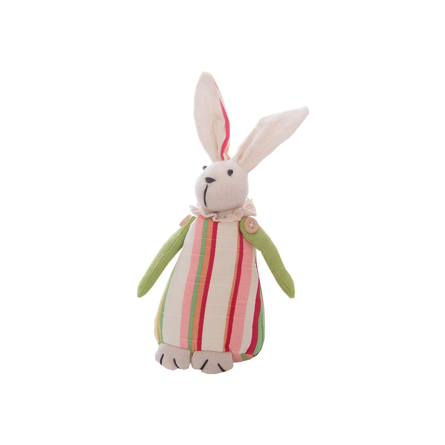 Заяц Ушенька маленькийХарактеристики:<br><br>• Предназначение: для оформления интерьера<br>• Пол: универсальный<br>• Материал: текстиль<br>• Цвет: телесный, красный, зеленый, розовый<br>• Размеры (высота игрушки): 25 см<br>• Вес в упаковке: 240 г <br><br>Заяц Ушенька маленький – это интерьерная игрушка от торговой марки Белоснежка, специализирующейся на товарах для творчества и рукоделия. Заяц выполнен из текстиля с набивкой, внутри для устойчивости имеется утяжелитель. Использованные при изготовлении материалы гипоаллергенные. Игрушка имеет форму статуэтки, поэтому ее можно поставить на полку. Заяц Ушенька может стать прекрасным подарком на новоселье с пожеланиями благополучия, удачи, мира и добра.<br><br>Зайца Ушеньку маленького можно купить в нашем интернет-магазине.<br><br>Ширина мм: 150<br>Глубина мм: 115<br>Высота мм: 80<br>Вес г: 2660<br>Возраст от месяцев: 72<br>Возраст до месяцев: 144<br>Пол: Унисекс<br>Возраст: Детский<br>SKU: 5089803