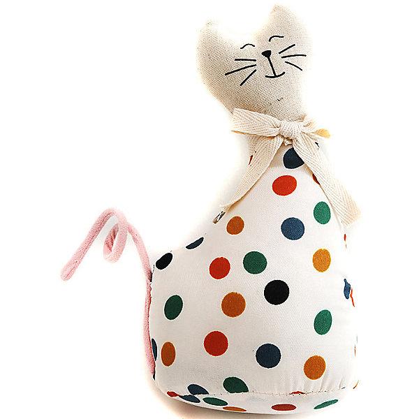 Кошка МурысяДетские предметы интерьера<br>Характеристики:<br><br>• Предназначение: для оформления интерьера<br>• Пол: универсальный<br>• Материал: текстиль<br>• Цвет: телесный, красный, зеленый, желтый<br>• Размеры (высота игрушки): 22,5 см<br>• Вес в упаковке: 200 г <br><br>Кошка Мурыся – это интерьерная игрушка от торговой марки Белоснежка, специализирующейся на товарах для творчества и рукоделия. Кошка выполнен из текстиля с набивкой, внутри для устойчивости имеется утяжелитель. Использованные при изготовлении материалы гипоаллергенные. Игрушка имеет форму статуэтки, поэтому ее можно поставить на полку. Мурыся может стать прекрасным подарком на новоселье с пожеланиями благополучия, удачи, мира и добра.<br><br>Кошку Мурысю можно купить в нашем интернет-магазине.<br><br>Ширина мм: 225<br>Глубина мм: 115<br>Высота мм: 80<br>Вес г: 4420<br>Возраст от месяцев: 72<br>Возраст до месяцев: 144<br>Пол: Унисекс<br>Возраст: Детский<br>SKU: 5089806