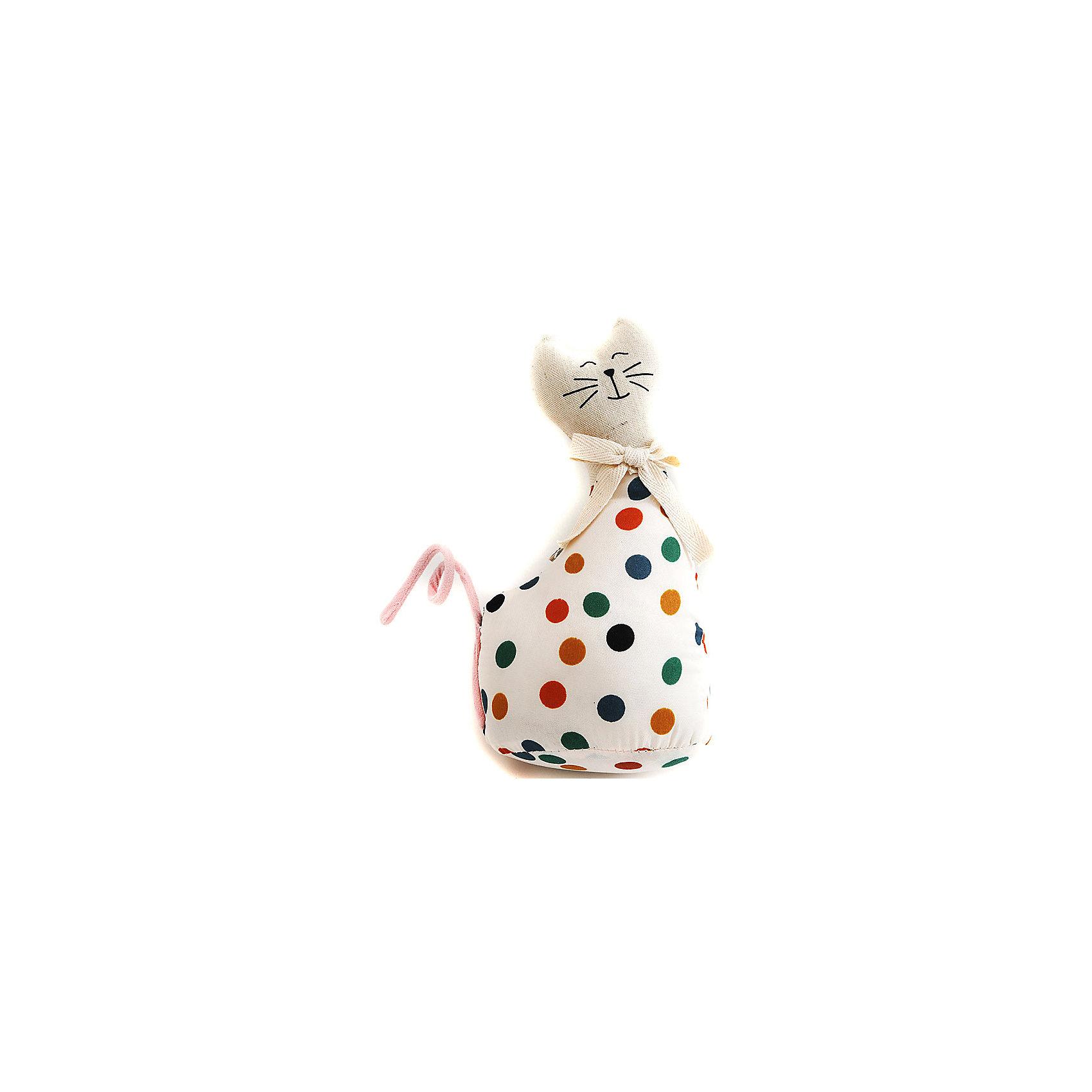 Кошка МурысяПредметы интерьера<br>Характеристики:<br><br>• Предназначение: для оформления интерьера<br>• Пол: универсальный<br>• Материал: текстиль<br>• Цвет: телесный, красный, зеленый, желтый<br>• Размеры (высота игрушки): 22,5 см<br>• Вес в упаковке: 200 г <br><br>Кошка Мурыся – это интерьерная игрушка от торговой марки Белоснежка, специализирующейся на товарах для творчества и рукоделия. Кошка выполнен из текстиля с набивкой, внутри для устойчивости имеется утяжелитель. Использованные при изготовлении материалы гипоаллергенные. Игрушка имеет форму статуэтки, поэтому ее можно поставить на полку. Мурыся может стать прекрасным подарком на новоселье с пожеланиями благополучия, удачи, мира и добра.<br><br>Кошку Мурысю можно купить в нашем интернет-магазине.<br><br>Ширина мм: 225<br>Глубина мм: 115<br>Высота мм: 80<br>Вес г: 4420<br>Возраст от месяцев: 72<br>Возраст до месяцев: 144<br>Пол: Унисекс<br>Возраст: Детский<br>SKU: 5089806