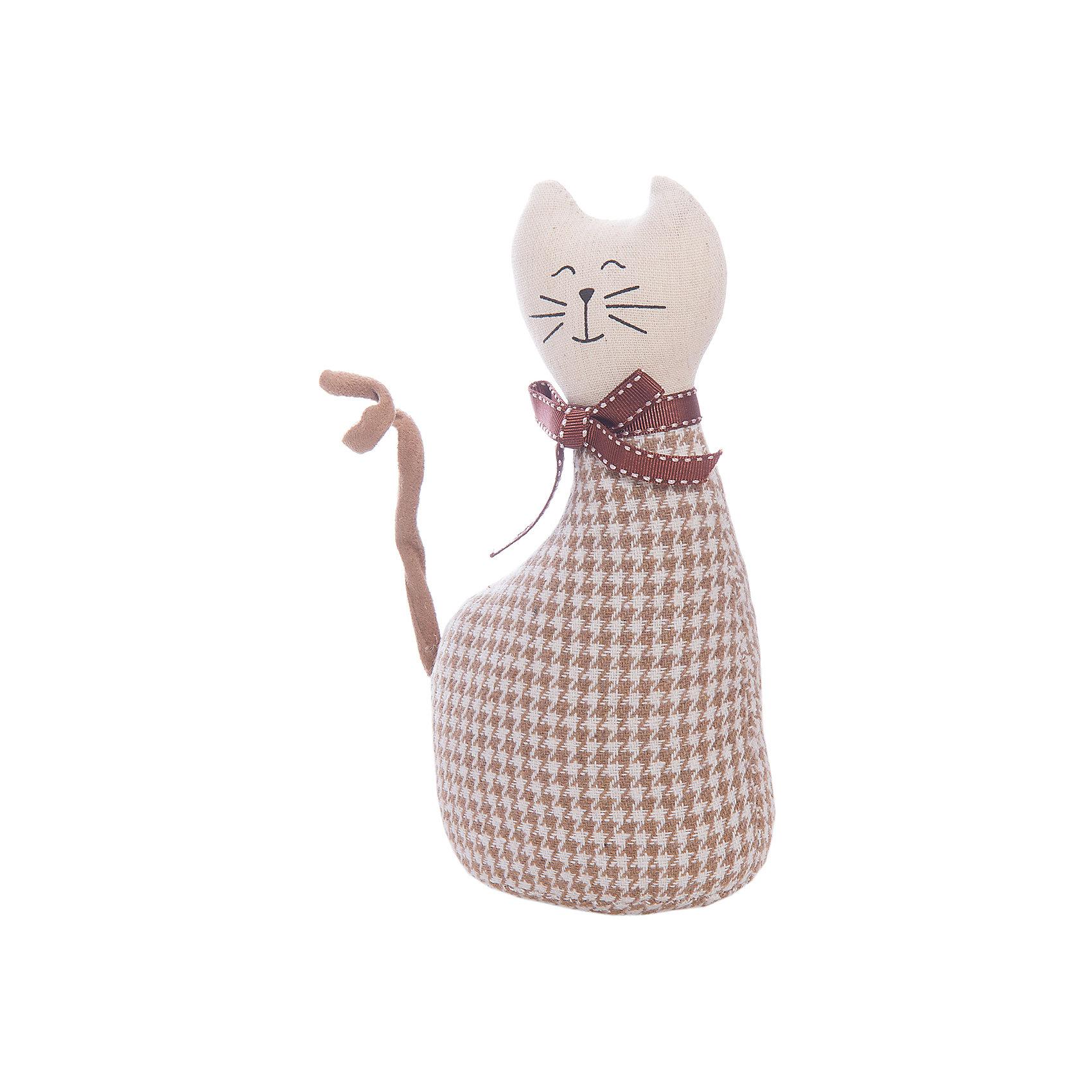 Кошка МурысяПредметы интерьера<br>Характеристики:<br><br>• Предназначение: для оформления интерьера<br>• Пол: универсальный<br>• Материал: текстиль<br>• Цвет: бежевый, коричневый<br>• Размеры (высота игрушки): 22,5 см<br>• Вес в упаковке: 200 г <br><br>Кошка Мурыся – это интерьерная игрушка от торговой марки Белоснежка, специализирующейся на товарах для творчества и рукоделия. Кошка выполнен из текстиля с набивкой, внутри для устойчивости имеется утяжелитель. Использованные при изготовлении материалы гипоаллергенные. Игрушка имеет форму статуэтки, поэтому ее можно поставить на полку. Мурыся может стать прекрасным подарком на новоселье с пожеланиями благополучия, удачи, мира и добра.<br><br>Кошку Мурысю можно купить в нашем интернет-магазине.<br><br>Ширина мм: 225<br>Глубина мм: 115<br>Высота мм: 80<br>Вес г: 4420<br>Возраст от месяцев: 72<br>Возраст до месяцев: 144<br>Пол: Унисекс<br>Возраст: Детский<br>SKU: 5089807
