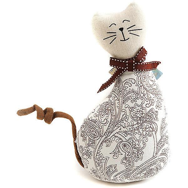 Кошка МурысяДетские предметы интерьера<br>Характеристики:<br><br>• Предназначение: для оформления интерьера<br>• Пол: универсальный<br>• Материал: текстиль<br>• Цвет: телесный, коричневый<br>• Размеры (высота игрушки): 22,5 см<br>• Вес в упаковке: 200 г <br><br>Кошка Мурыся – это интерьерная игрушка от торговой марки Белоснежка, специализирующейся на товарах для творчества и рукоделия. Кошка выполнен из текстиля с набивкой, внутри для устойчивости имеется утяжелитель. Использованные при изготовлении материалы гипоаллергенные. Игрушка имеет форму статуэтки, поэтому ее можно поставить на полку. Мурыся может стать прекрасным подарком на новоселье с пожеланиями благополучия, удачи, мира и добра.<br><br>Кошку Мурысю можно купить в нашем интернет-магазине.<br><br>Ширина мм: 225<br>Глубина мм: 115<br>Высота мм: 80<br>Вес г: 4420<br>Возраст от месяцев: 72<br>Возраст до месяцев: 144<br>Пол: Унисекс<br>Возраст: Детский<br>SKU: 5089808