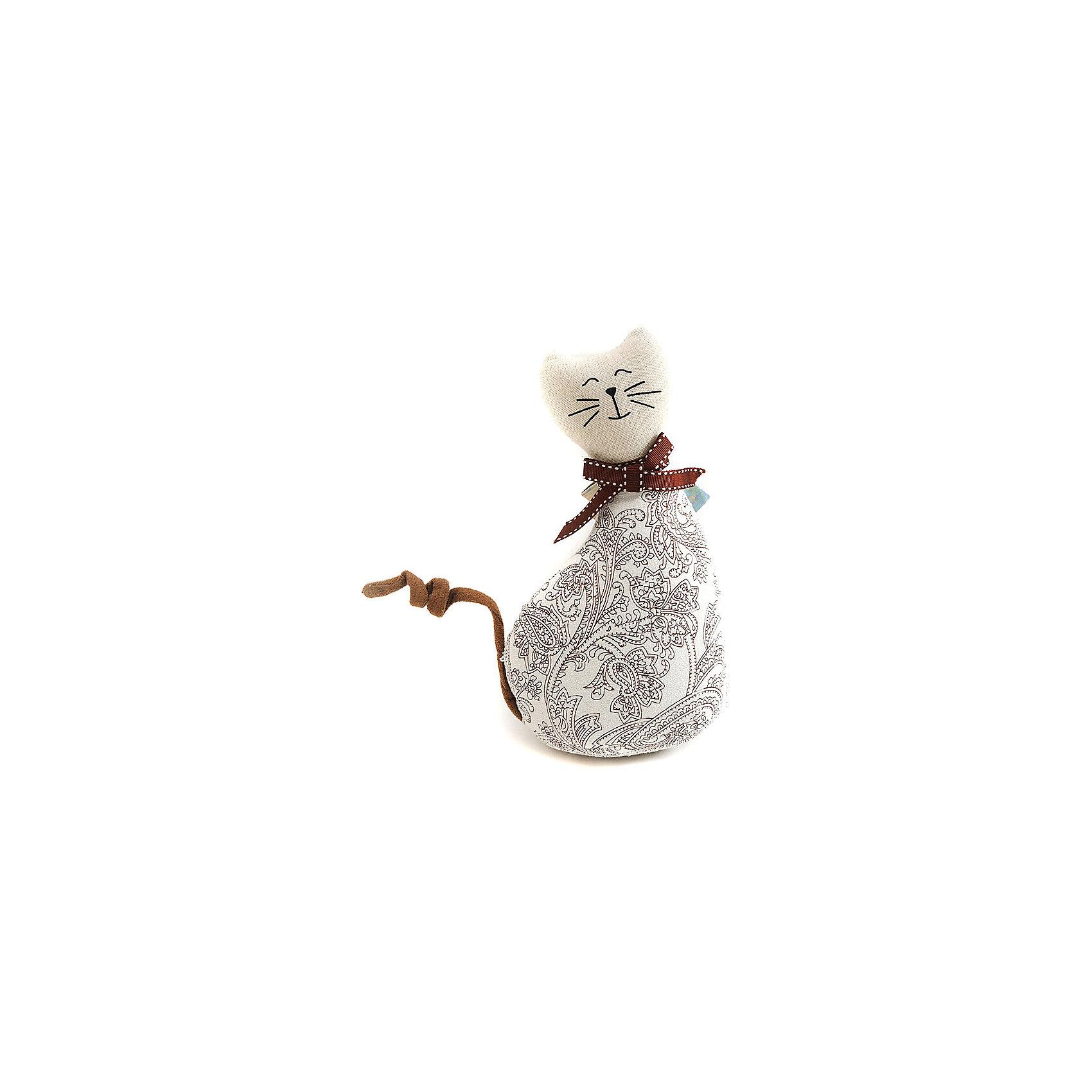 Кошка МурысяПредметы интерьера<br>Характеристики:<br><br>• Предназначение: для оформления интерьера<br>• Пол: универсальный<br>• Материал: текстиль<br>• Цвет: телесный, коричневый<br>• Размеры (высота игрушки): 22,5 см<br>• Вес в упаковке: 200 г <br><br>Кошка Мурыся – это интерьерная игрушка от торговой марки Белоснежка, специализирующейся на товарах для творчества и рукоделия. Кошка выполнен из текстиля с набивкой, внутри для устойчивости имеется утяжелитель. Использованные при изготовлении материалы гипоаллергенные. Игрушка имеет форму статуэтки, поэтому ее можно поставить на полку. Мурыся может стать прекрасным подарком на новоселье с пожеланиями благополучия, удачи, мира и добра.<br><br>Кошку Мурысю можно купить в нашем интернет-магазине.<br><br>Ширина мм: 225<br>Глубина мм: 115<br>Высота мм: 80<br>Вес г: 4420<br>Возраст от месяцев: 72<br>Возраст до месяцев: 144<br>Пол: Унисекс<br>Возраст: Детский<br>SKU: 5089808