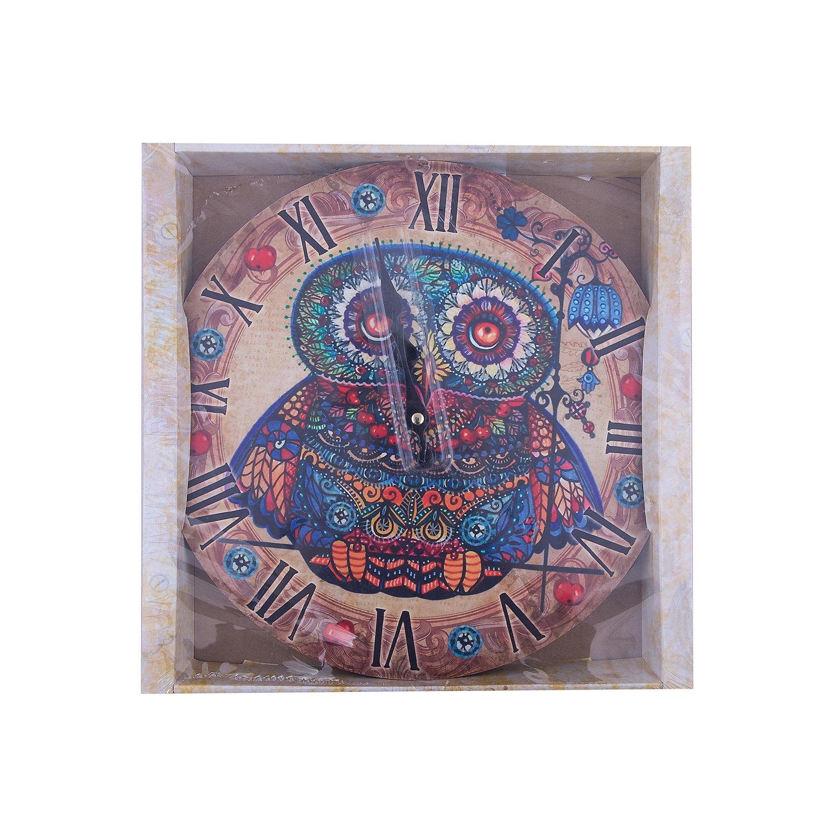 Часы настенные Волшебная сова с рябиной, диаметр 34Предметы интерьера<br>Часы настенные Волшебная сова с рябиной, диаметр 34.<br><br>Характеристики:<br><br>- Диаметр: 34 см.<br>- Две стрелки часовая и минутная<br>- Батарейка: 1 типа АА (в комплект не входит)<br>- Цвет: антрацитовый, бежевый, красный<br>- Упаковка картонная коробка<br><br>Кварцевые настенные часы с механизмом плавного хода помимо своего прямого назначения – показывать точное время – станут важным элементом декора Вашего дома, квартиры или офиса. Открытый циферблат часов выполнен из листа оргалита с декоративным покрытием, оформлен изображением совы и ягод рябины. Часовая и минутная стрелки металлические. Часовой механизм закрыт пластиковым корпусом. Часы будут ярким акцентом в интерьере и создадут дополнительный уют и хорошее настроение.<br><br>Часы настенные Волшебная сова с рябиной, диаметр 34 можно купить в нашем интернет-магазине.<br><br>Ширина мм: 345<br>Глубина мм: 340<br>Высота мм: 45<br>Вес г: 2500<br>Возраст от месяцев: 72<br>Возраст до месяцев: 144<br>Пол: Унисекс<br>Возраст: Детский<br>SKU: 5089816