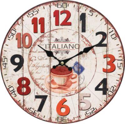 Белоснежка Часы настенные Кофе из Италии , диаметр 34 см