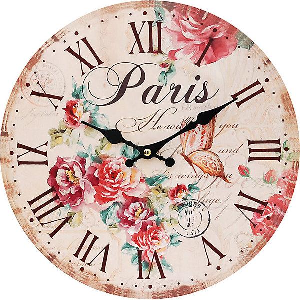 Часы настенные Аромат лета, диаметр 34 смДетские предметы интерьера<br>Часы настенные Аромат лета, диаметр 34 см.<br><br>Характеристики:<br><br>- Диаметр: 34 см.<br>- Две стрелки часовая и минутная<br>- Батарейка: 1 типа АА (в комплект не входит)<br>- Упаковка картонная коробка<br><br>Кварцевые настенные часы с механизмом плавного хода помимо своего прямого назначения – показывать точное время – станут важным элементом декора Вашего дома, квартиры или офиса. Открытый циферблат часов выполнен из листа оргалита с декоративным покрытием, оформлен изображением цветочной композиции и порхающей бабочки. Часовая и минутная стрелки металлические. Часовой механизм закрыт пластиковым корпусом. Часы будут стильным акцентом в интерьере и создадут дополнительный уют и хорошее настроение.<br><br>Часы настенные Аромат лета, диаметр 34 см можно купить в нашем интернет-магазине.<br>Ширина мм: 345; Глубина мм: 340; Высота мм: 45; Вес г: 2500; Возраст от месяцев: 72; Возраст до месяцев: 144; Пол: Унисекс; Возраст: Детский; SKU: 5089826;