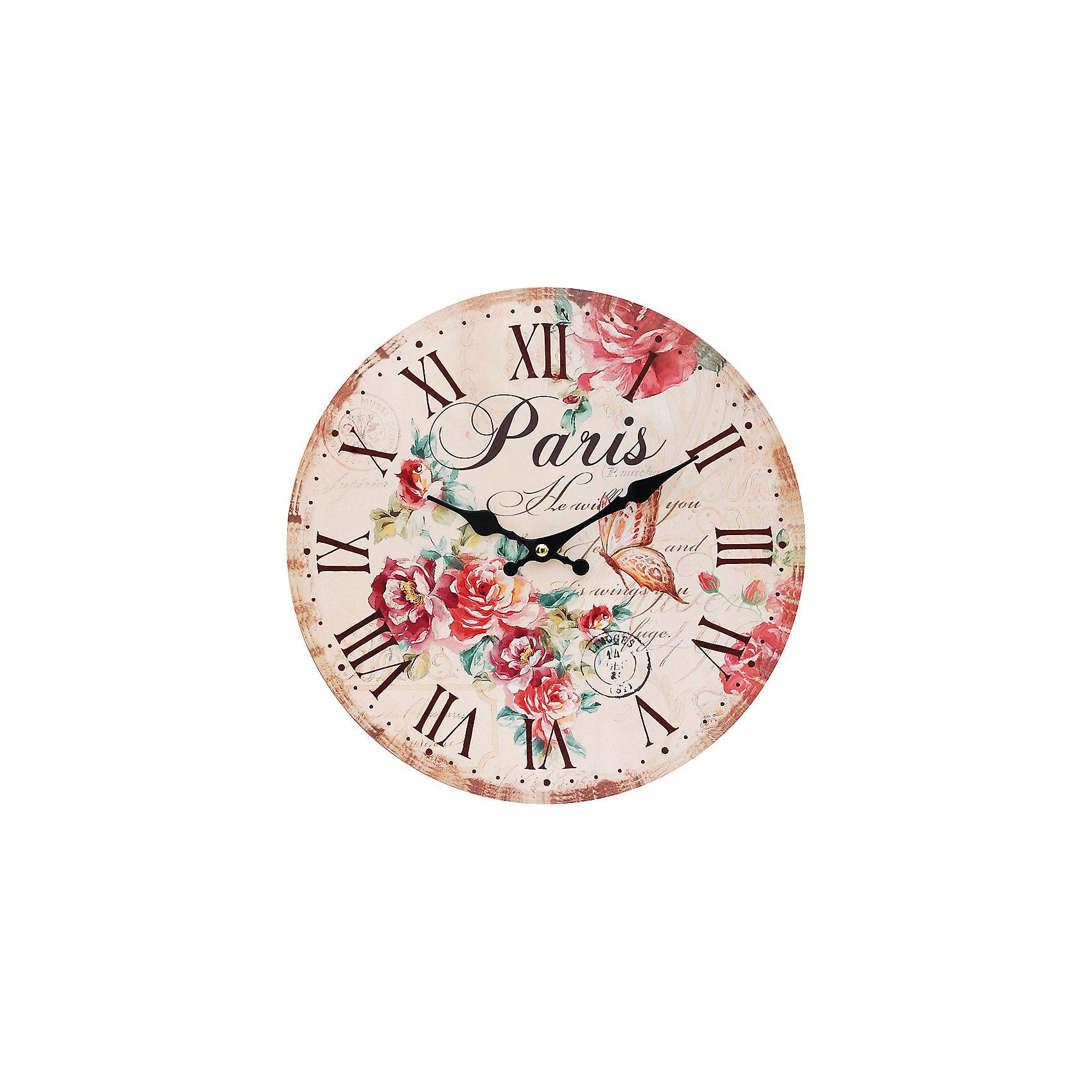 Часы настенные Аромат лета, диаметр 34 смПредметы интерьера<br>Часы настенные Аромат лета, диаметр 34 см.<br><br>Характеристики:<br><br>- Диаметр: 34 см.<br>- Две стрелки часовая и минутная<br>- Батарейка: 1 типа АА (в комплект не входит)<br>- Упаковка картонная коробка<br><br>Кварцевые настенные часы с механизмом плавного хода помимо своего прямого назначения – показывать точное время – станут важным элементом декора Вашего дома, квартиры или офиса. Открытый циферблат часов выполнен из листа оргалита с декоративным покрытием, оформлен изображением цветочной композиции и порхающей бабочки. Часовая и минутная стрелки металлические. Часовой механизм закрыт пластиковым корпусом. Часы будут стильным акцентом в интерьере и создадут дополнительный уют и хорошее настроение.<br><br>Часы настенные Аромат лета, диаметр 34 см можно купить в нашем интернет-магазине.<br><br>Ширина мм: 345<br>Глубина мм: 340<br>Высота мм: 45<br>Вес г: 2500<br>Возраст от месяцев: 72<br>Возраст до месяцев: 144<br>Пол: Унисекс<br>Возраст: Детский<br>SKU: 5089826