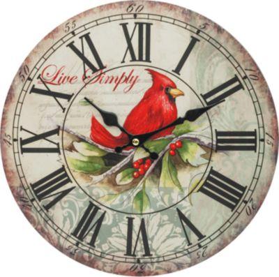 Белоснежка Часы настенные Красный кардинал , диаметр 34 см