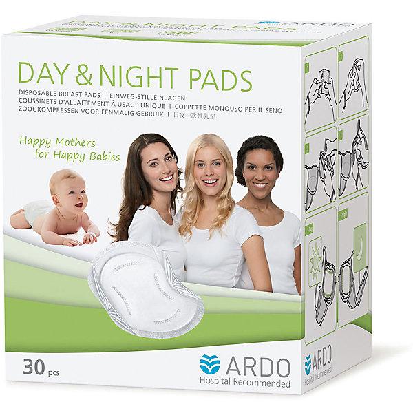 Одноразовые прокладки для бюстгальтера DAY &amp; NIGHT PADS, ARDO, 30 штНакладки на грудь<br>Одноразовые прокладки для бюстгальтера DAY &amp; NIGHT PADS, ARDO, 30 штук  - отличное решение для кормящих грудью мам. Они защищают от протекания грудного молока круглосуточно. Сделаны из качественного материала, поэтому не вызовут аллергию. Также прокладки мягкие и удобные при ношении, обеспечивают дополнительную защиту от протекания по краям. Фиксируется прокладка двумя клейкими полосками.<br><br>Дополнительная информация:<br>-В наборе: 30 штук<br>-Состав: нетканое полотно, целлюлозная вата, супервпитывающий полимер<br>-Марка: ARDO<br><br>Одноразовые прокладки для бюстгальтера DAY &amp; NIGHT PADS, ARDO, 30 штук  вы можете приобрести в нашем интернет магазине.<br><br>Ширина мм: 100<br>Глубина мм: 100<br>Высота мм: 100<br>Вес г: 200<br>Возраст от месяцев: 216<br>Возраст до месяцев: 588<br>Пол: Унисекс<br>Возраст: Детский<br>SKU: 5089843