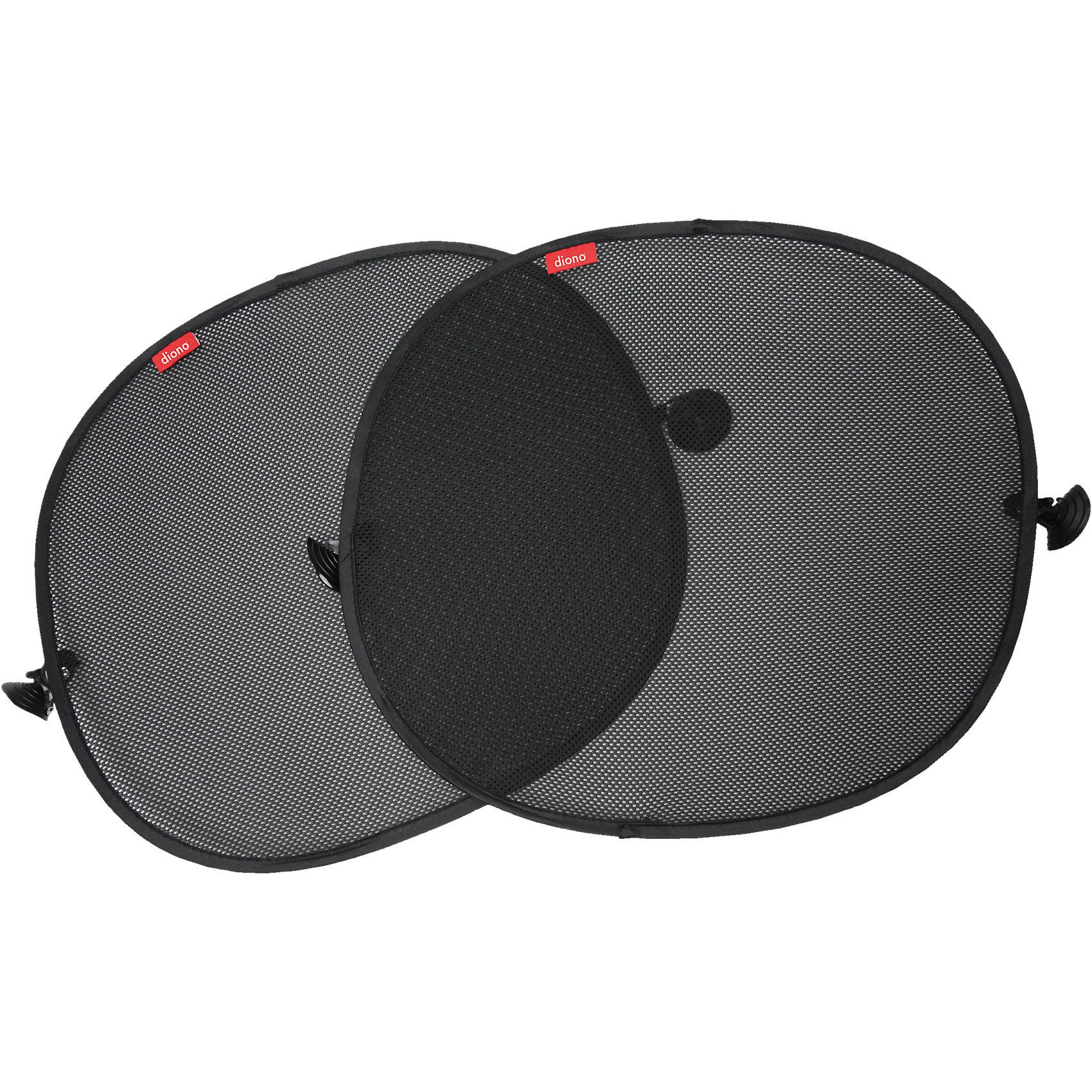 Комплект из 2-х шторок от солнца Sun Stoppers, DionoАксессуары<br>Комплект из 2-х шторок от солнца для боковых стекол автомобиля создан для улучшения комфорта поездки для вашего ребёнка. Шторки легко крепятся и подойдёт для окон любого автомобиля. Ребёнок легко сможет ими пользоваться, благодаря самораскрывающейся конструкции. <br> <br>В комплект входит:<br>- 2 шторки от солнца, размером 42*44 см<br><br>Дополнительная информация:<br>-Марка: Diono<br><br>Комплект из 2-х шторок от солнца Sun Stoppers, Diono вы можете приобрести в нашем интернет-магазине.<br><br>Ширина мм: 186<br>Глубина мм: 170<br>Высота мм: 37<br>Вес г: 160<br>Цвет: черный<br>Возраст от месяцев: 0<br>Возраст до месяцев: 36<br>Пол: Унисекс<br>Возраст: Детский<br>SKU: 5089860