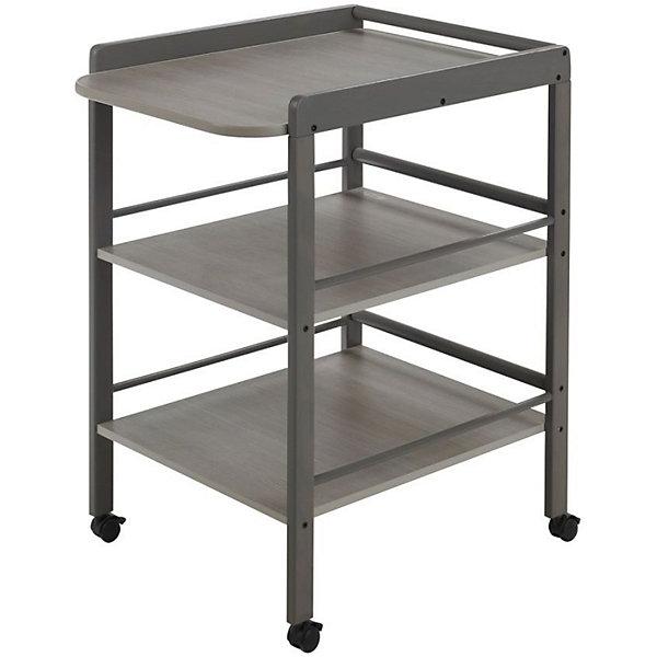 Пеленальный столик Clarissa, Geuther, серыйПеленальные столы<br>Стол для пеленания CLARISSA, Geuther (Гётер), серый.<br><br>Характеристики:<br><br>• имеет две вместительные полки с трехсторонними бортами<br>• удобное место для пеленания<br>• оснащен поворотными колесами с фиксаторами<br>• изготовлен из дерева<br>• материал: массив бука<br>• размеры: 56х90,5х74,5 см<br>• ширина пеленального места: 56 см<br>• рабочая высота: 86 см<br>• цвет: серый<br><br>Стол для пеленания CLARISSA, Geuther имеет большую ширину пеленального места и отлично подойдет для переодевания малыша, гигиенических процедур и массажа. Стол оснащен двумя вместительными полками с бортиками, предотвращающими падение вещей. На полки удобно положить одежду, подгузники, салфетки и другие предметы, необходимые для гигиенических процедур. Ухаживать за малышом на таком чудесном столике будет очень удобно и приятно!<br><br>Купить стол для пеленания CLARISSA, Geuther (Гётер), серый вы можете в нашем интернет-магазине.<br><br>Ширина мм: 750<br>Глубина мм: 400<br>Высота мм: 950<br>Вес г: 17000<br>Возраст от месяцев: 0<br>Возраст до месяцев: 12<br>Пол: Унисекс<br>Возраст: Детский<br>SKU: 5089897