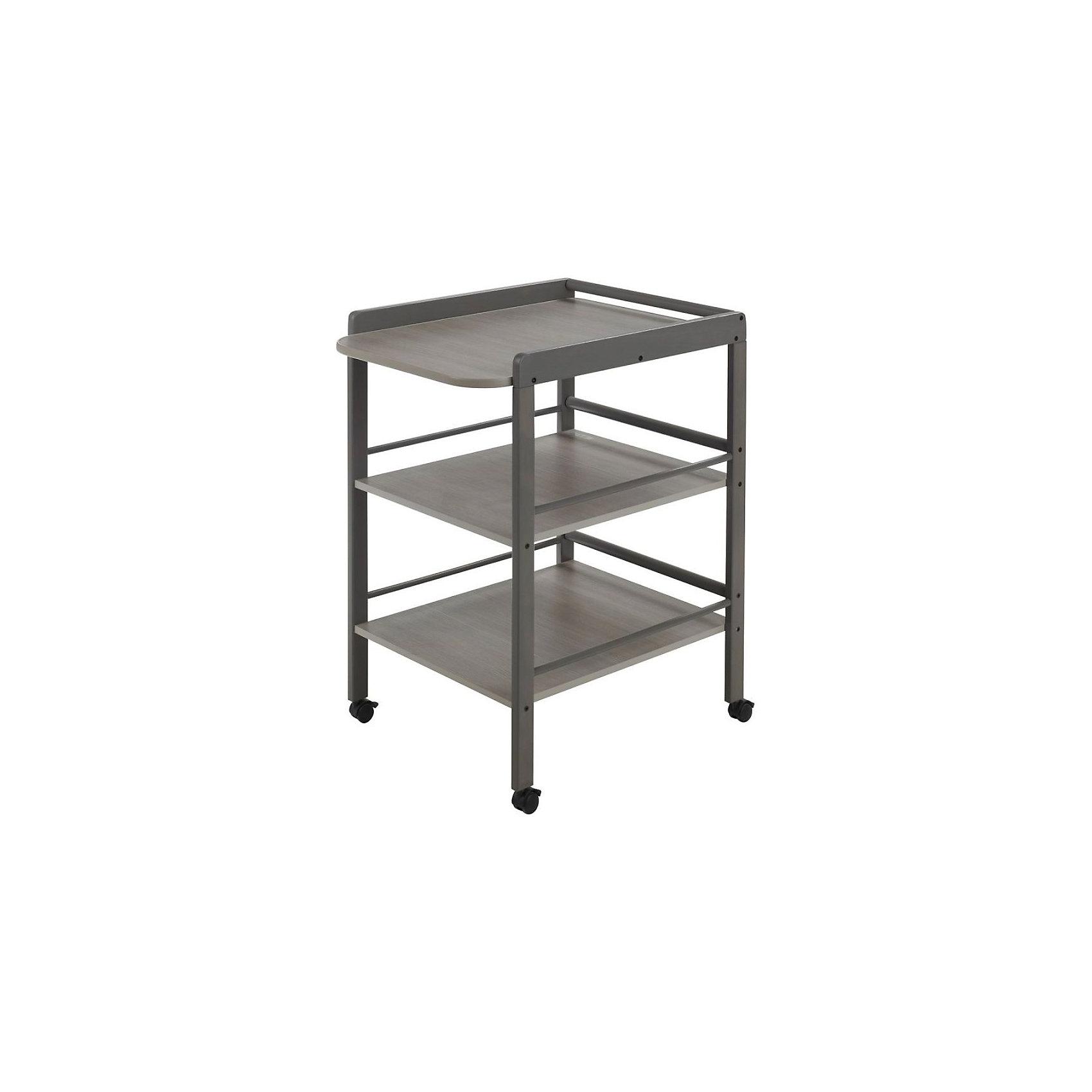 Пеленальный столик Clarissa, Geuther, серыйСтол для пеленания CLARISSA, Geuther (Гётер), серый.<br><br>Характеристики:<br><br>• имеет две вместительные полки с трехсторонними бортами<br>• удобное место для пеленания<br>• оснащен поворотными колесами с фиксаторами<br>• изготовлен из дерева<br>• материал: массив бука<br>• размеры: 56х90,5х74,5 см<br>• ширина пеленального места: 56 см<br>• рабочая высота: 86 см<br>• цвет: серый<br><br>Стол для пеленания CLARISSA, Geuther имеет большую ширину пеленального места и отлично подойдет для переодевания малыша, гигиенических процедур и массажа. Стол оснащен двумя вместительными полками с бортиками, предотвращающими падение вещей. На полки удобно положить одежду, подгузники, салфетки и другие предметы, необходимые для гигиенических процедур. Ухаживать за малышом на таком чудесном столике будет очень удобно и приятно!<br><br>Купить стол для пеленания CLARISSA, Geuther (Гётер), серый вы можете в нашем интернет-магазине.<br><br>Ширина мм: 750<br>Глубина мм: 400<br>Высота мм: 950<br>Вес г: 17000<br>Возраст от месяцев: 0<br>Возраст до месяцев: 12<br>Пол: Унисекс<br>Возраст: Детский<br>SKU: 5089897