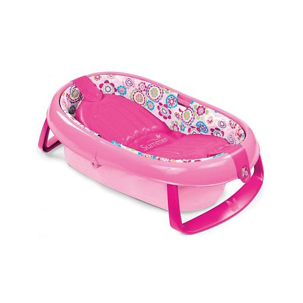 Ванночка складная 09365A , Summer Infant, розовыйТовары для купания<br>Купания очень важно для малыша, ведь чистота и гигиена-залог здоровья, которое так важно маленькому ребёнку. Ванночка складная 09360A , Summer Infant, розовый поможет сделать купания малыша ещё комфортнее и приятнее. Надувное мягкое дно и регулируемая спинка  обеспечит комфорт малыша. Ванночка изготовлена из прочного пластика, который не принесёт вреда вашему ребёнку. Также ванночка складывается, поэтому ее с легкостью можно взять с собой в путешествие.<br><br>Дополнительная информация:<br>-цвет: розовый<br>-марка: Summer Infant<br><br>Ванночку складную 09360A , Summer Infant, розовый  можно приобрести в нашем интернет-магазине.<br><br>Ширина мм: 130<br>Глубина мм: 380<br>Высота мм: 460<br>Вес г: 600<br>Возраст от месяцев: 0<br>Возраст до месяцев: 24<br>Пол: Унисекс<br>Возраст: Детский<br>SKU: 5089917