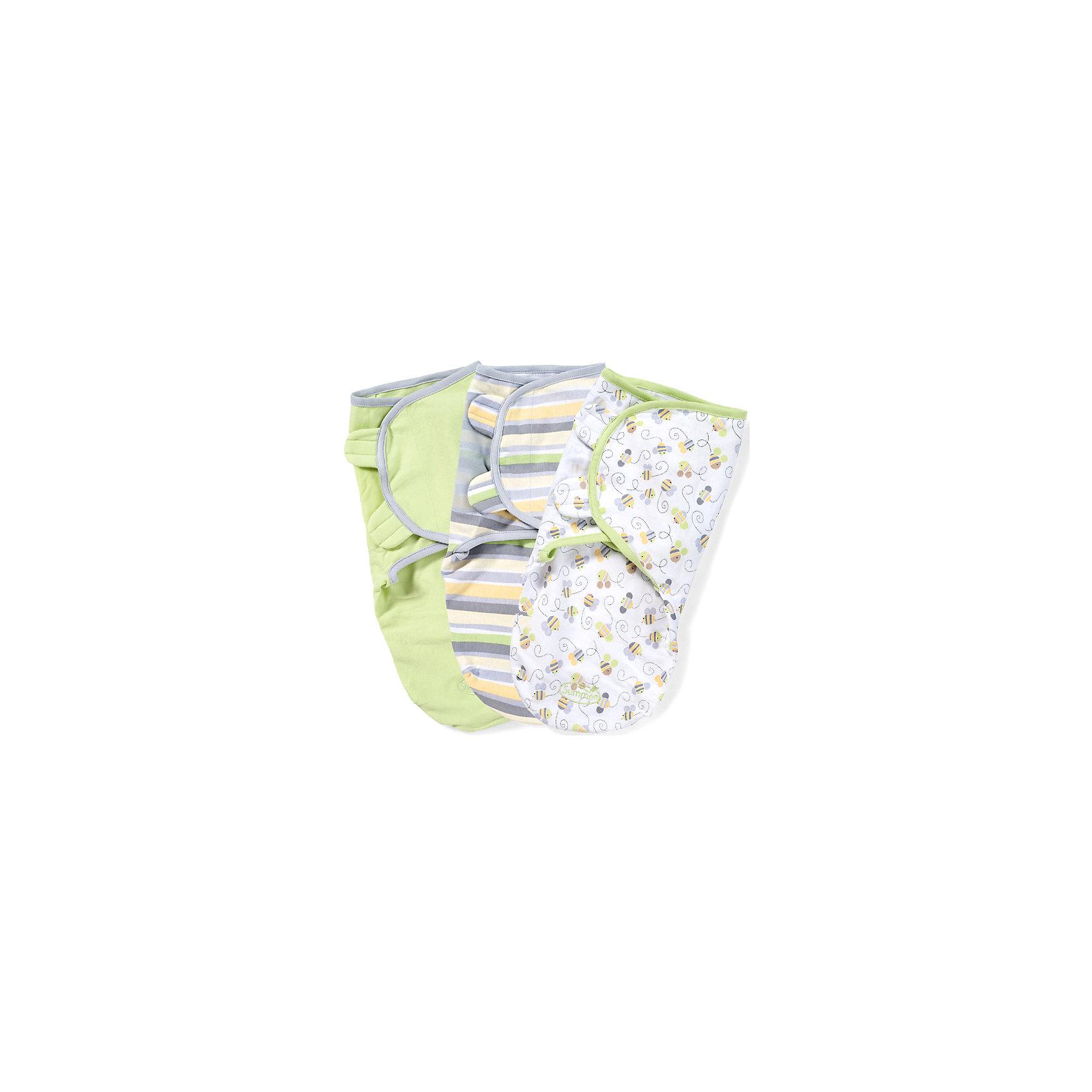 Конверт на липучке SwaddleMe, размер S/M, (3шт), , Summer Infant, нейтральная, пчелкиПеленание<br>Конверт на липучке SwaddleMe, размер S/M, (3шт), Summer Infant (Саммер Инфант), нейтральная, пчелки.<br><br>Характеристики:<br><br>• мягкий конверт<br>• обеспечивает спокойный сон ребенка<br>• регулируемые крылья не позволят ребенку распеленаться<br>• регулируется по мере роста ребенка<br>• можно открыть только нижнюю часть для смены подгузника<br>• подходит для колясок и автокресел<br>• размер: S/M<br>• расцветка: нейтральная, пчелки<br>• состав: хлопок, эластан<br>• длина конверта: 50 см<br>• для детей от 3 до 6 кг<br><br>Конверт на липучке SwaddleMe, Summer Infant подарит крохе комфортный и здоровый сон. Крылья конверта регулируются в зависимости от роста ребенка, что сведет к минимуму возможность распеленаться самостоятельно. Для смены подгузника не обязательно раскрывать конверт полностью, достаточно открыть нижнюю часть.<br><br>Конверт на липучке SwaddleMe, размер S/M, (3шт),, Summer Infant (Саммер Инфант), нейтральная, пчелки вы можете приобрести в нашем интернет-магазине.<br><br>Ширина мм: 30<br>Глубина мм: 200<br>Высота мм: 250<br>Вес г: 300<br>Возраст от месяцев: 0<br>Возраст до месяцев: 3<br>Пол: Унисекс<br>Возраст: Детский<br>SKU: 5089927