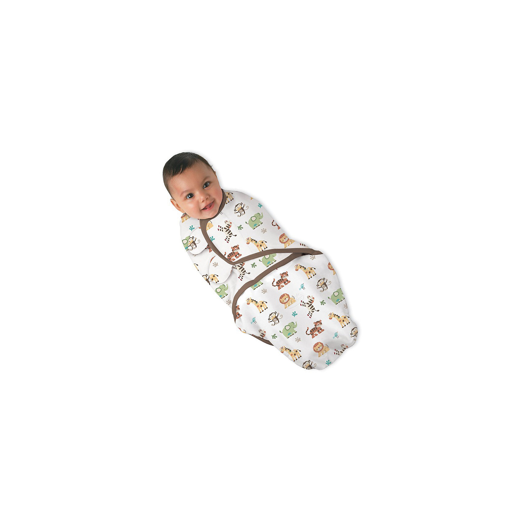 Конверт на липучке SwaddleMe, размер L, Summer Infant, джунглиКонверт на липучке SwaddleMe, размер L, Summer Infant (Саммер Инфант), джунгли.<br><br>Характеристики:<br><br>• мягкий конверт<br>• обеспечивает спокойный сон ребенка<br>• регулируемые крылья не позволят ребенку распеленаться<br>• регулируется по мере роста ребенка<br>• можно открыть только нижнюю часть для смены подгузника<br>• подходит для колясок и автокресел<br>• размер: L<br>• состав: хлопок, эластан<br>• длина конверта: 60 см<br>• для детей от 6 до 10 кг<br>• расцветка: джунгли<br><br>Конверт на липучке SwaddleMe, Summer Infant подарит крохе комфортный и здоровый сон. Мягкий хлопок нежно укутает младенца и оградит от пробуждения при вздрагиваниях во сне. Крылья конверта регулируются в зависимости от роста ребенка, что сведет к минимуму возможность распеленаться самостоятельно. Для смены подгузника не обязательно раскрывать конверт полностью, достаточно открыть нижнюю часть.<br><br>Конверт на липучке SwaddleMe, размер L, Summer Infant (Саммер Инфант), джунгли вы можете приобрести в нашем интернет-магазине.<br><br>Ширина мм: 30<br>Глубина мм: 200<br>Высота мм: 250<br>Вес г: 300<br>Возраст от месяцев: 3<br>Возраст до месяцев: 6<br>Пол: Унисекс<br>Возраст: Детский<br>SKU: 5089930