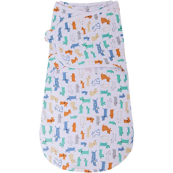 Конверт для пеленания на липучке Wrap Sack® , размер L, Summer Infant, собачкиКонверты для пеленания<br>Конверт на липучке с двумя способами фиксации Wrap Sack®, размер L, Summer Infant (Саммер Инфант), собачки.<br><br>Характеристики:<br><br>• можно оставить ручки свободными<br>• большое пространство для ножек <br>• изготовлен из мягкого хлопка<br>• обеспечивает комфортный сон<br>• можно поменять подгузник, не беспокоя ребенка<br>• материал: 100% хлопок<br>• размер: L<br>• для детей от 6 до 10 кг<br>• расцветка: собачки<br><br>Конверт на липучке Wrap Sack®, Summer Infant нежно укутает малыша и защитит от пробуждения при случайных вздрагиваниях ручек и ножек. Мягкий хлопок приятен телу и не вызывает раздражения на нежной коже ребенка. Молния позволяет расстегнуть конверт снизу и поменять подгузник, не беспокоя при этом кроху. Крылья конверта регулируются в соответствии с ростом ребенка.<br><br>Конверт на липучке с двумя способами фиксации Wrap Sack®, размер L, Summer Infant (Саммер Инфант), собачки можно купить в нашем интернет-магазине.<br>Ширина мм: 30; Глубина мм: 200; Высота мм: 250; Вес г: 300; Возраст от месяцев: 3; Возраст до месяцев: 9; Пол: Унисекс; Возраст: Детский; SKU: 5089937;