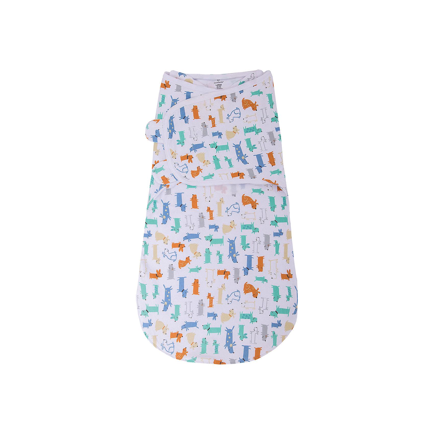Конверт для пеленания на липучке Wrap Sack® , размер L, Summer Infant, собачкиКонверт на липучке с двумя способами фиксации Wrap Sack®, размер L, Summer Infant (Саммер Инфант), собачки.<br><br>Характеристики:<br><br>• можно оставить ручки свободными<br>• большое пространство для ножек <br>• изготовлен из мягкого хлопка<br>• обеспечивает комфортный сон<br>• можно поменять подгузник, не беспокоя ребенка<br>• материал: 100% хлопок<br>• размер: L<br>• для детей от 6 до 10 кг<br>• расцветка: собачки<br><br>Конверт на липучке Wrap Sack®, Summer Infant нежно укутает малыша и защитит от пробуждения при случайных вздрагиваниях ручек и ножек. Мягкий хлопок приятен телу и не вызывает раздражения на нежной коже ребенка. Молния позволяет расстегнуть конверт снизу и поменять подгузник, не беспокоя при этом кроху. Крылья конверта регулируются в соответствии с ростом ребенка.<br><br>Конверт на липучке с двумя способами фиксации Wrap Sack®, размер L, Summer Infant (Саммер Инфант), собачки можно купить в нашем интернет-магазине.<br><br>Ширина мм: 30<br>Глубина мм: 200<br>Высота мм: 250<br>Вес г: 300<br>Возраст от месяцев: 3<br>Возраст до месяцев: 9<br>Пол: Унисекс<br>Возраст: Детский<br>SKU: 5089937