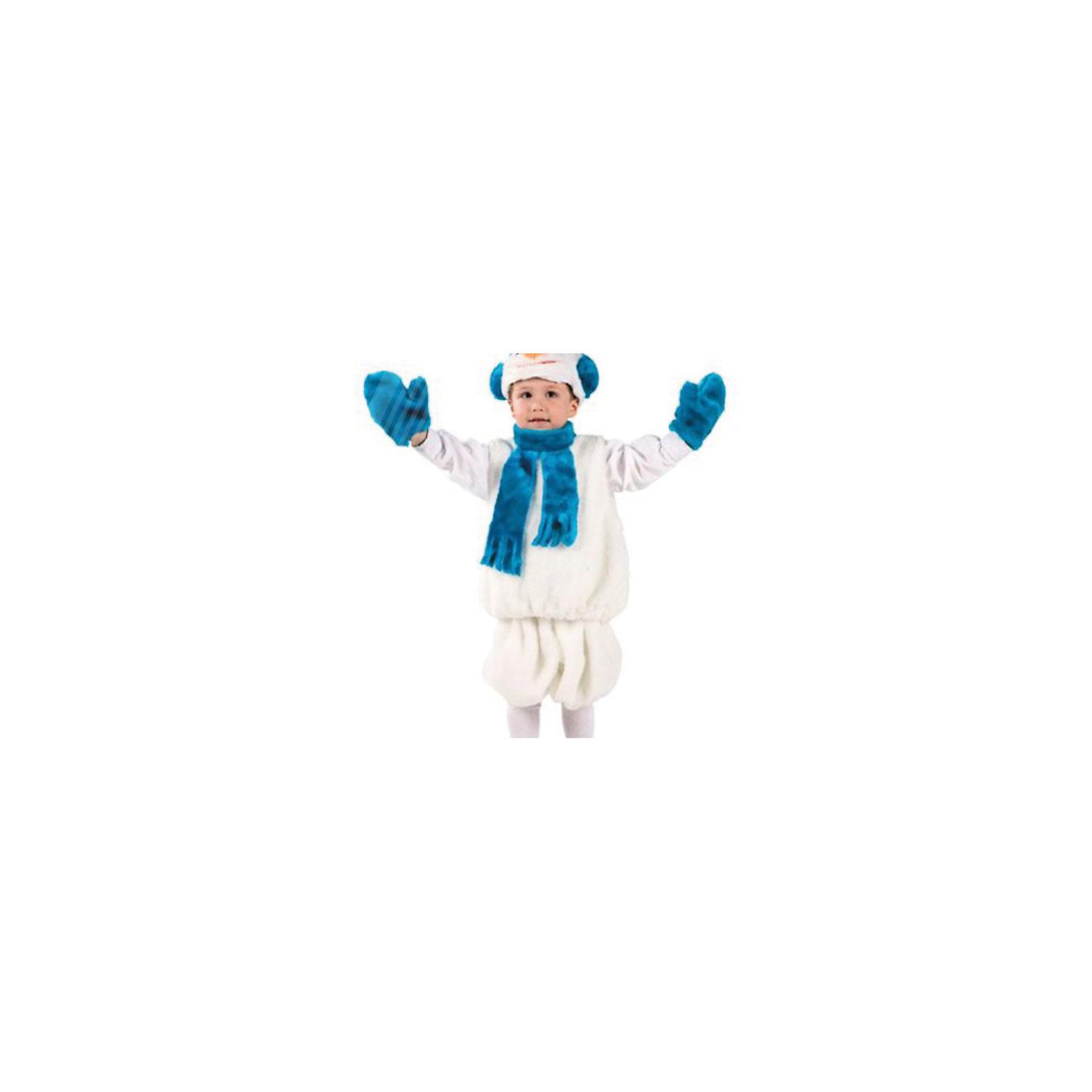Карнавальный костюм Снеговик (мех), БатикМаски и карнавальные костюмы<br>Карнавальный костюм Снеговик (мех), Батик<br><br>Характеристики:<br><br>• Материал:  мех искусственный, волокно полиэфирное, полотно трикотажное. <br>• Цвет: белый, синий.<br>• В комплект входит: маска, безрукавка, шорты, варежки.<br><br>Какое же новогоднее приключение без забавного снеговика? Карнавальный костюм Снеговик от Батик, поможет вашему ребенку создать образ веселого и забавного снеговика. Любой мальчик в костюмчике Снеговик будет располагать к себе внимание на любом детском празднике или спектакле. Костюм состоит из забавных и белоснежных объёмных шорт, объёмной безрукавки и ярким синим шарфом, маска в виде головы снеговика белого цвета и синего цвета варежки. Обязательный атрибут Снеговика- это нос- морковка на маске. Весь костюмчик выполнен из качественного искусственного меха из серии Батик-Мех.<br><br>Карнавальный костюм Снеговик (мех), Батик, можно купить в нашем интернет-магазине!<br><br>Ширина мм: 500<br>Глубина мм: 50<br>Высота мм: 700<br>Вес г: 600<br>Цвет: разноцветный<br>Возраст от месяцев: 48<br>Возраст до месяцев: 60<br>Пол: Мужской<br>Возраст: Детский<br>Размер: 28<br>SKU: 5092499