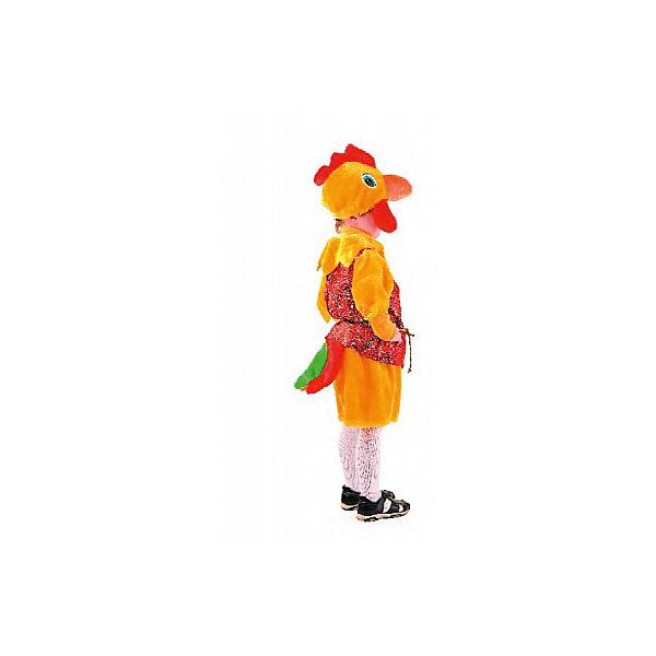 Карнавальный костюм Петя-петушок, шёлк, БатикКарнавальные костюмы для мальчиков<br>Карнавальный костюм Петя-петушок, шёлк, Батик<br><br>Характеристики:<br><br>• Материал:  мех искусственный, шелк. <br>• Цвет: желтый, красный.<br>• В комплект входит: шапочка- голова петуха, кофточка с длинным рукавом, объемные  шорты.<br><br>Карнавальный костюм «Петух Петя» предназначен для мальчишек с яркой индивидуальностью, ведь данный сказочный персонаж отличается своей любовью к позёрству и привлечению всеобщего внимания. Такой  красавчик обязательно привлечет внимание, так как всё на нём приводит окружающих в восторг: и яркий гребень на голове, и клюв, и разноцветный хвост, горделиво оттопыренный петушком. Костюмчик «Петух Петя» укомплектован объёмными шортиками, кофточкой с длинным рукавом и шапочкой - головой петуха. Материалы, из которых выполнен костюм: шёлк и искусственный мех, цвет жёлто-красный, а также яркие тканевые вкрапления в хвосте.<br><br>Карнавальный костюм Петух Петя ,шелк,  Батик, можно купить в нашем интернет-магазине!<br><br>Ширина мм: 500<br>Глубина мм: 50<br>Высота мм: 700<br>Вес г: 600<br>Цвет: белый<br>Возраст от месяцев: 48<br>Возраст до месяцев: 60<br>Пол: Мужской<br>Возраст: Детский<br>Размер: 28<br>SKU: 5092501