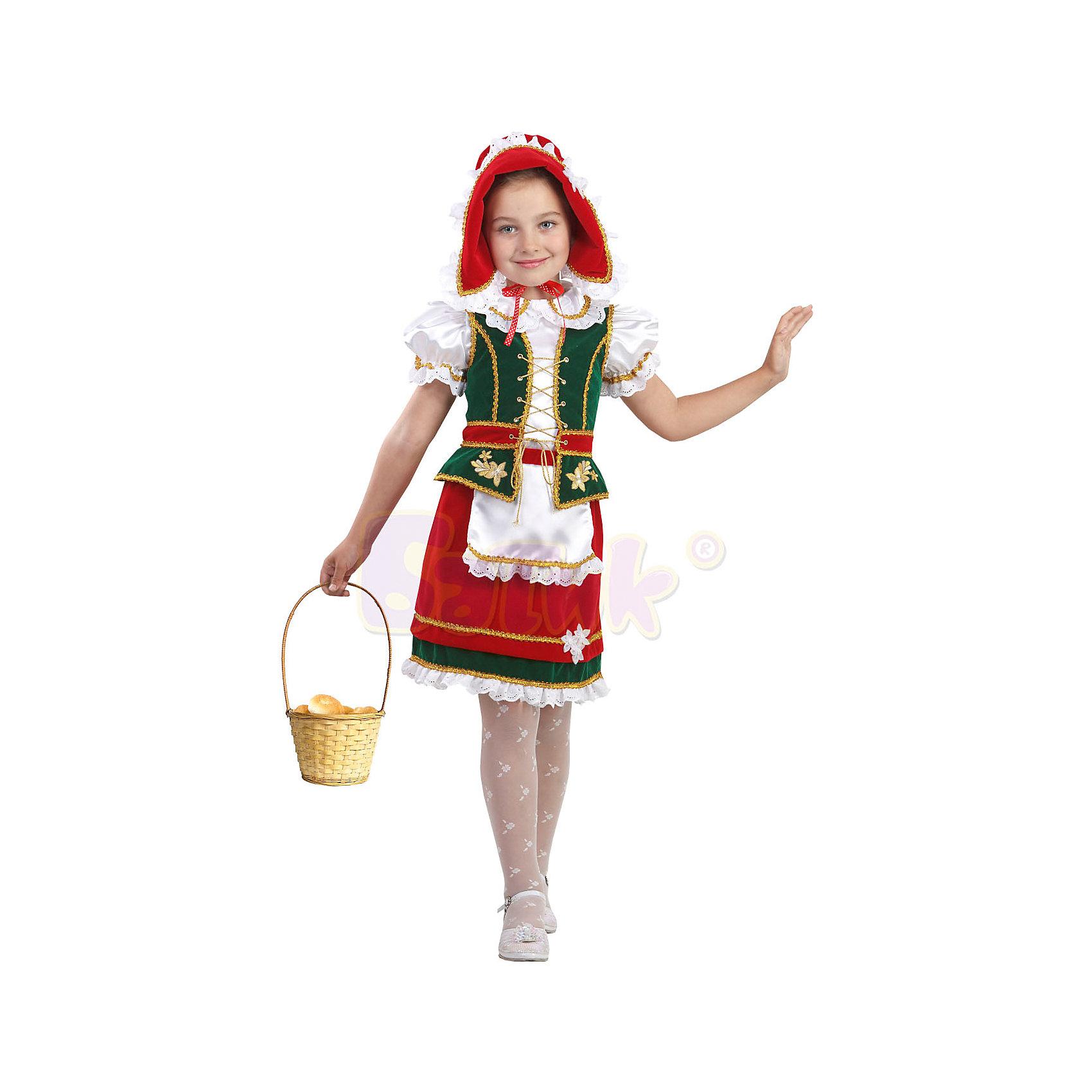 Батик Карнавальный костюм Красная шапочка Звездный маскарад, Батик костюмы красная шапочка к 041