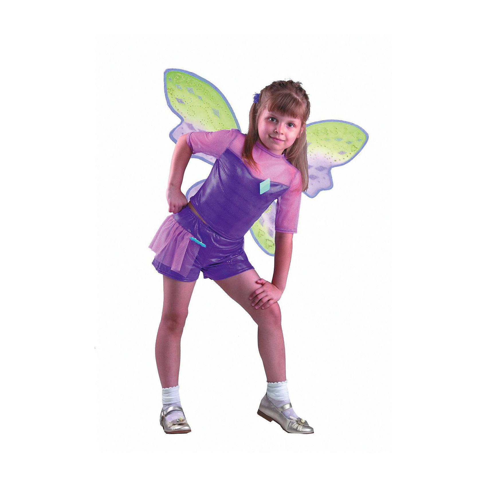 Карнавальный костюм Текна, БатикWinx Club<br>Карнавальный костюм Текна, Батик<br><br>Характеристики:<br><br>• Материал: 100% полиэстер.<br>• Цвет: разноцветный.<br><br>В комплекте:<br><br>• шорты;<br>• топ;<br>• крылья;<br>• парик;<br>• перчатки;<br>• гольфы;<br>• брошь «ромб»;<br>• брошь «звезда».<br><br>Ваша девочка поклонница историй о феях-волшебницах Винкс? Тогда этот костюм для неё!  Костюм Текны - одной из главных героинь сказочной истории - воссоздаёт образ персонажа в мельчайших деталях. Фиолетовый парик, легкие крылышки – все это поможет вашей девочке перевоплотиться в фею Текну. В таком карнавальном костюме, «Текна»,  ваша девочка получит максимальное удовольствие от праздника и подарит радость окружающим!<br><br>Карнавальный костюм Текна, Батик можно купить в нашем интернет – магазине.<br><br>Ширина мм: 500<br>Глубина мм: 50<br>Высота мм: 700<br>Вес г: 600<br>Цвет: белый<br>Возраст от месяцев: 60<br>Возраст до месяцев: 72<br>Пол: Женский<br>Возраст: Детский<br>Размер: 30<br>SKU: 5092537