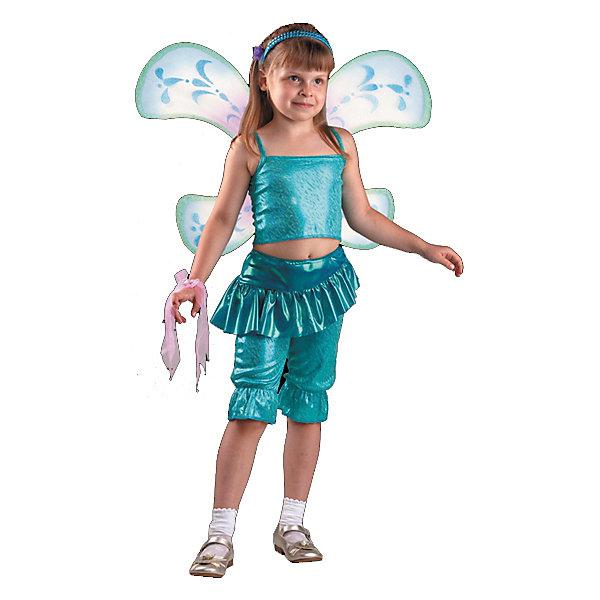 Карнавальный костюм Лейла (Аиша), БатикКарнавальные костюмы для девочек<br>Карнавальный костюм Лейла (Аиша), Батик<br><br>Характеристики:<br><br>• Материал: 100% полиэстер.<br>• Цвет: разноцветный.<br><br>В комплекте:<br><br>• бриджи;<br>• топ;<br>• крылья;<br>• парик;<br>• перчатка-1шт.;<br>• гольфы;<br>• обруч бирюза;<br>• бант на руку.<br><br>Ваша девочка поклонница историй о феях-волшебницах Винкс? Тогда этот костюм для неё!  Костюм Лейлы (Аишы) - одной из главных героинь сказочной истории - воссоздаёт образ персонажа в мельчайших деталях. Темноволосый парик, легкие крылышки – все это поможет вашей девочке перевоплотиться в фею Лейлу (Аишу). В таком карнавальном костюме, «Лейла»,  ваша девочка получит максимальное удовольствие от праздника и подарит радость окружающим!<br><br>Карнавальный костюм Лейла (Аиша), Батик можно купить в нашем интернет – магазине.<br>Ширина мм: 500; Глубина мм: 50; Высота мм: 700; Вес г: 600; Возраст от месяцев: 60; Возраст до месяцев: 72; Пол: Женский; Возраст: Детский; Размер: 30,32; SKU: 5092539;