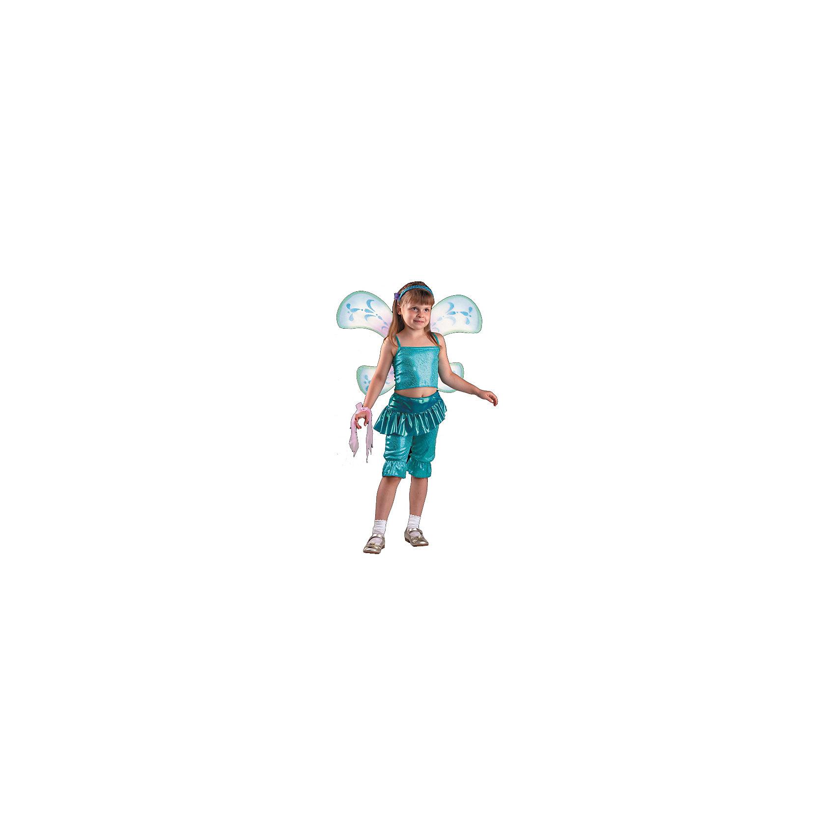 Карнавальный костюм Лейла (Аиша), БатикПопулярные игрушки<br>Карнавальный костюм Лейла (Аиша), Батик<br><br>Характеристики:<br><br>• Материал: 100% полиэстер.<br>• Цвет: разноцветный.<br><br>В комплекте:<br><br>• бриджи;<br>• топ;<br>• крылья;<br>• парик;<br>• перчатка-1шт.;<br>• гольфы;<br>• обруч бирюза;<br>• бант на руку.<br><br>Ваша девочка поклонница историй о феях-волшебницах Винкс? Тогда этот костюм для неё!  Костюм Лейлы (Аишы) - одной из главных героинь сказочной истории - воссоздаёт образ персонажа в мельчайших деталях. Темноволосый парик, легкие крылышки – все это поможет вашей девочке перевоплотиться в фею Лейлу (Аишу). В таком карнавальном костюме, «Лейла»,  ваша девочка получит максимальное удовольствие от праздника и подарит радость окружающим!<br><br>Карнавальный костюм Лейла (Аиша), Батик можно купить в нашем интернет – магазине.<br><br>Ширина мм: 500<br>Глубина мм: 50<br>Высота мм: 700<br>Вес г: 600<br>Цвет: разноцветный<br>Возраст от месяцев: 60<br>Возраст до месяцев: 72<br>Пол: Женский<br>Возраст: Детский<br>Размер: 30,32<br>SKU: 5092539