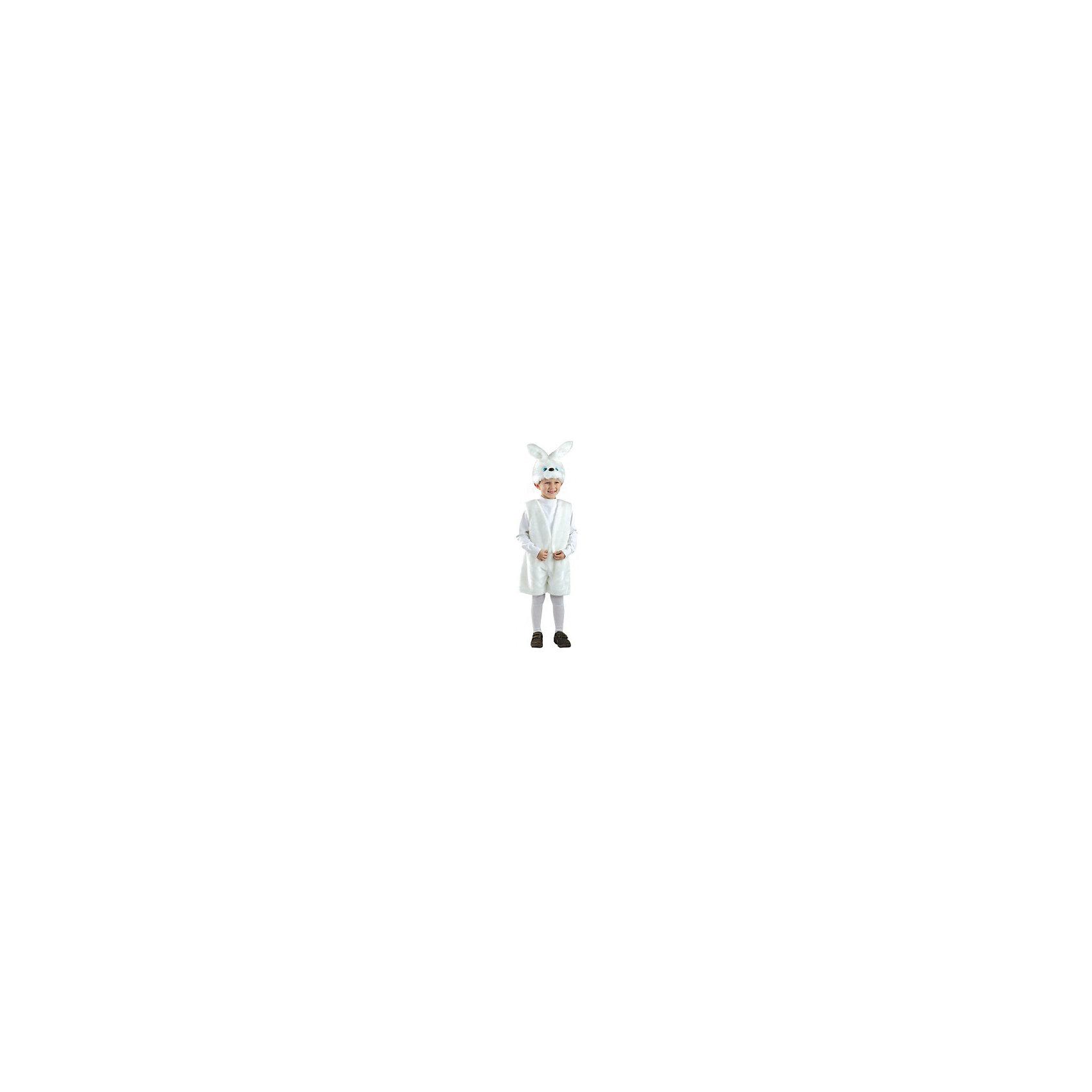 Карнавальный костюм Заяц Ушастик, БатикКарнавальный костюм Заяц Ушастик, Батик<br><br>Характеристики:<br><br>• Материал: искусственный мех.<br>• Цвет: белый.<br><br>В комплекте:<br><br>• шорты;<br>• жилет;<br>• шапка – маска.<br><br>Карнавальный костюм для мальчиков «Заяц Ушастик» выполнен из белоснежного качественного искусственного меха. Костюмчик Заяц Ушастик укомплектован маской в виде мордочки зайца, шортами и жилеткой. В таком карнавальном костюме, «Заяц Ушастик»,  ваш мальчик получит максимальное удовольствие от праздника и подарит радость окружающим!<br><br>Карнавальный костюм Заяц Ушастик, Батик можно купить в нашем интернет – магазине.<br><br>Ширина мм: 500<br>Глубина мм: 50<br>Высота мм: 700<br>Вес г: 600<br>Цвет: разноцветный<br>Возраст от месяцев: 84<br>Возраст до месяцев: 108<br>Пол: Мужской<br>Возраст: Детский<br>Размер: 32<br>SKU: 5092570