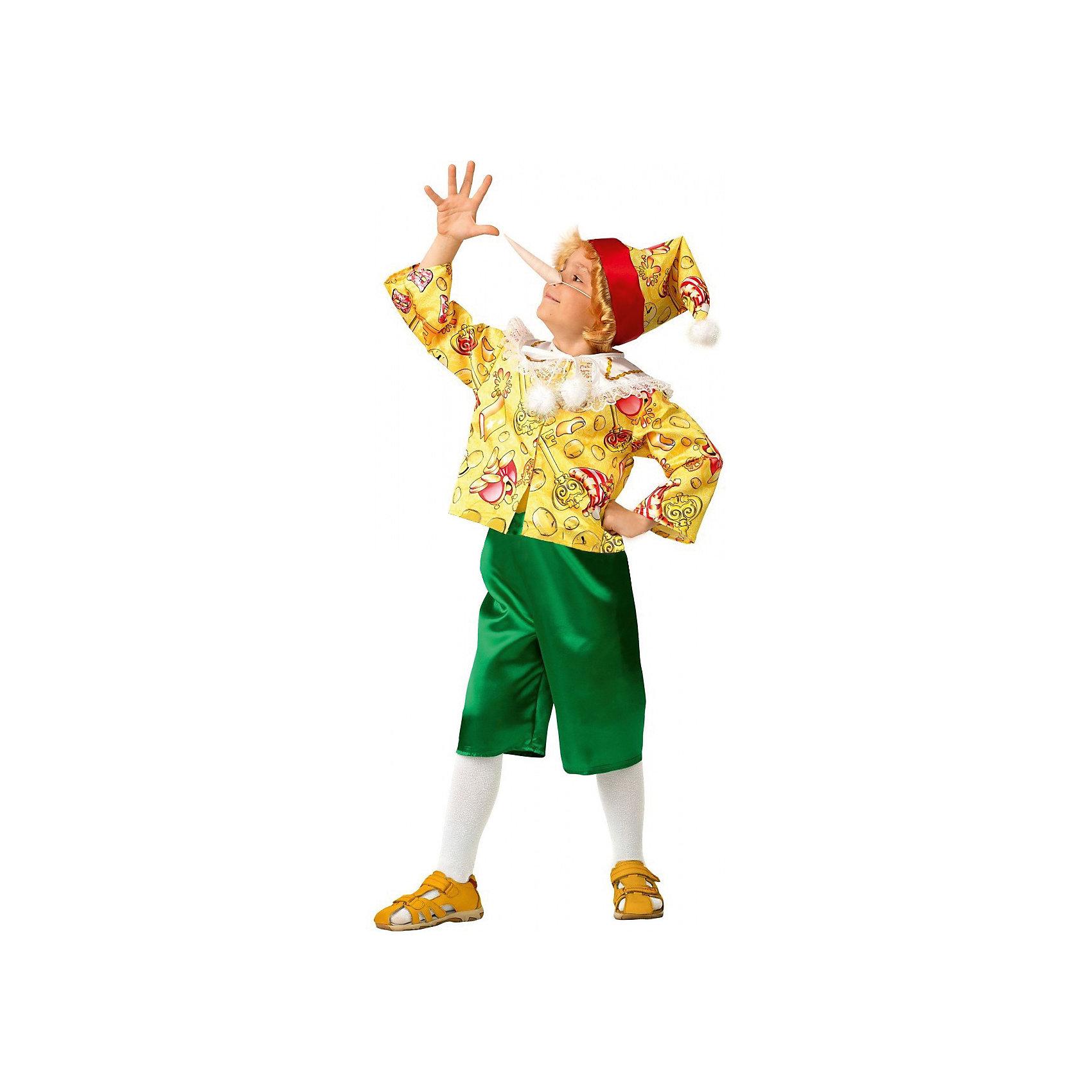 Карнавальный костюм Буратино сказочный Сказочная страна, Батик<br><br>Ширина мм: 500<br>Глубина мм: 50<br>Высота мм: 700<br>Вес г: 600<br>Цвет: разноцветный<br>Возраст от месяцев: 48<br>Возраст до месяцев: 60<br>Пол: Женский<br>Возраст: Детский<br>Размер: 28<br>SKU: 5092577