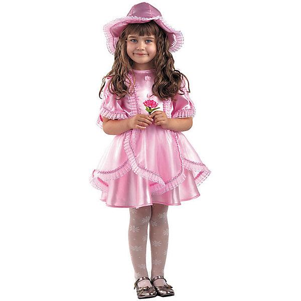 Карнавальный костюм Дюймовочка (текстиль), БатикКарнавальные костюмы для девочек<br>Карнавальный костюм Дюймовочка (текстиль), Батик<br><br>Характеристики:<br><br>• Материал: 100% полиэстер.<br>• Цвет: розовый.<br><br>В комплекте:<br><br>• платье;<br>• шапка-колокольчик.<br><br>Ваша девочка любит сказки? Тогда этот карнавальный костюм для неё! Детский карнавальный костюм Дюймовочки прекрасно подойдет для утренника, праздника или карнавального бала. Нарядное платье розового цвета декорировано прозрачной кружевной рюшей – подол и рукавчики. Шапка-колокольчик как будто срисована из мультфильма. В таком карнавальном костюме, «Дюймовочка»,  ваша девочка получит максимальное удовольствие от праздника и подарит радость окружающим!<br><br>Карнавальный костюм Дюймовочка, Батик можно купить в нашем интернет – магазине.<br><br>Ширина мм: 500<br>Глубина мм: 50<br>Высота мм: 700<br>Вес г: 600<br>Цвет: белый<br>Возраст от месяцев: 60<br>Возраст до месяцев: 72<br>Пол: Женский<br>Возраст: Детский<br>Размер: 30,28,26,32<br>SKU: 5092592