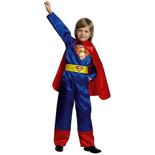 Карнавальный костюм Супермен (текстиль), БатикКарнавальные костюмы для мальчиков<br>Карнавальный костюм Супермен (текстиль), Батик<br><br>Характеристики:<br><br>• Материал: бархат (100% полиэстер). <br>• Цвет: синий, красный.<br><br>В комплекте:<br><br>• брюки;<br>• куртка;<br>• плащ;<br>• пояс.<br><br>Образ Супермена хотел бы примерить на себя каждый мальчишка. Этот карнавальный костюм предоставит такую возможность вашему мальчику и станет для него прекрасным подарком. Брюки прямого покроя, пояс собран на резинке. Плащ крепится на завязках. Куртка и пояс декорированы эмблемой супермена. В таком карнавальном костюме, «Супермен»,  ваш мальчик получит максимальное удовольствие от праздника и подарит радость окружающим!<br><br>Карнавальный костюм Супермен, Батик можно купить в нашем интернет – магазине.<br><br>Ширина мм: 450<br>Глубина мм: 80<br>Высота мм: 350<br>Вес г: 250<br>Цвет: белый<br>Возраст от месяцев: 36<br>Возраст до месяцев: 48<br>Пол: Мужской<br>Возраст: Детский<br>Размер: 26,30,28,28<br>SKU: 5092599
