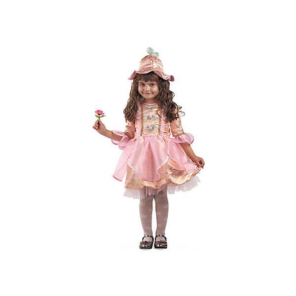 Карнавальный костюм Дюймовочка (Каранвал-премьер)Карнавальные костюмы для девочек<br>Карнавальный костюм Дюймовочка (Карнавал-премьер)<br><br>Характеристики:<br><br>• Материал: 100% полиэстер.<br>• Цвет: розовый, золотой.<br><br>В комплекте:<br><br>• платье;<br>• шапка-колокольчик.<br><br>Ваша девочка любит сказки? Тогда этот шикарный карнавальный костюм для неё! Детский карнавальный костюм Дюймовочки прекрасно подойдет для утренника, праздника или карнавального бала. Нарядное платье из розовой парчи с золотом декорировано прозрачной кружевной рюшей – подол и рукавчики. Шапка-колокольчик, также выполнена из розово-золотой парчи. В таком карнавальном костюме, «Дюймовочка»,  ваша девочка получит максимальное удовольствие от праздника и подарит радость окружающим!<br><br>Карнавальный костюм Дюймовочка (Карнавал-премьер), Батик можно купить в нашем интернет – магазине.<br><br>Ширина мм: 500<br>Глубина мм: 50<br>Высота мм: 700<br>Вес г: 600<br>Возраст от месяцев: 60<br>Возраст до месяцев: 72<br>Пол: Женский<br>Возраст: Детский<br>Размер: 30,32<br>SKU: 5092607