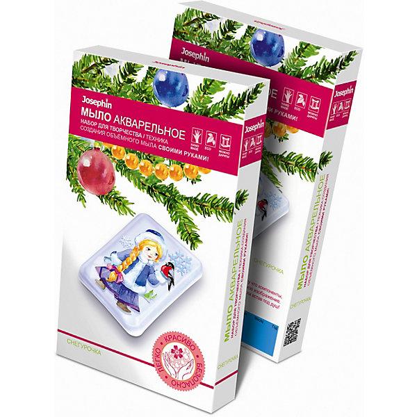 Мыло акварельное СнегурочкаНаборы для создания мыла<br>Сделайте мыло своими руками! Оно будет настоящим произведением искусства, потому что компоненты, вошедшие в его состав, образуют прозрачное объёмное изображение. Вы будете любоваться им каждый раз, принимая ванну или встав под душ! Бабочки, порхающие среди цветов - совсем как настоящие!<br><br>Ширина мм: 110<br>Глубина мм: 25<br>Высота мм: 185<br>Вес г: 100<br>Возраст от месяцев: 84<br>Возраст до месяцев: 120<br>Пол: Унисекс<br>Возраст: Детский<br>SKU: 5092708
