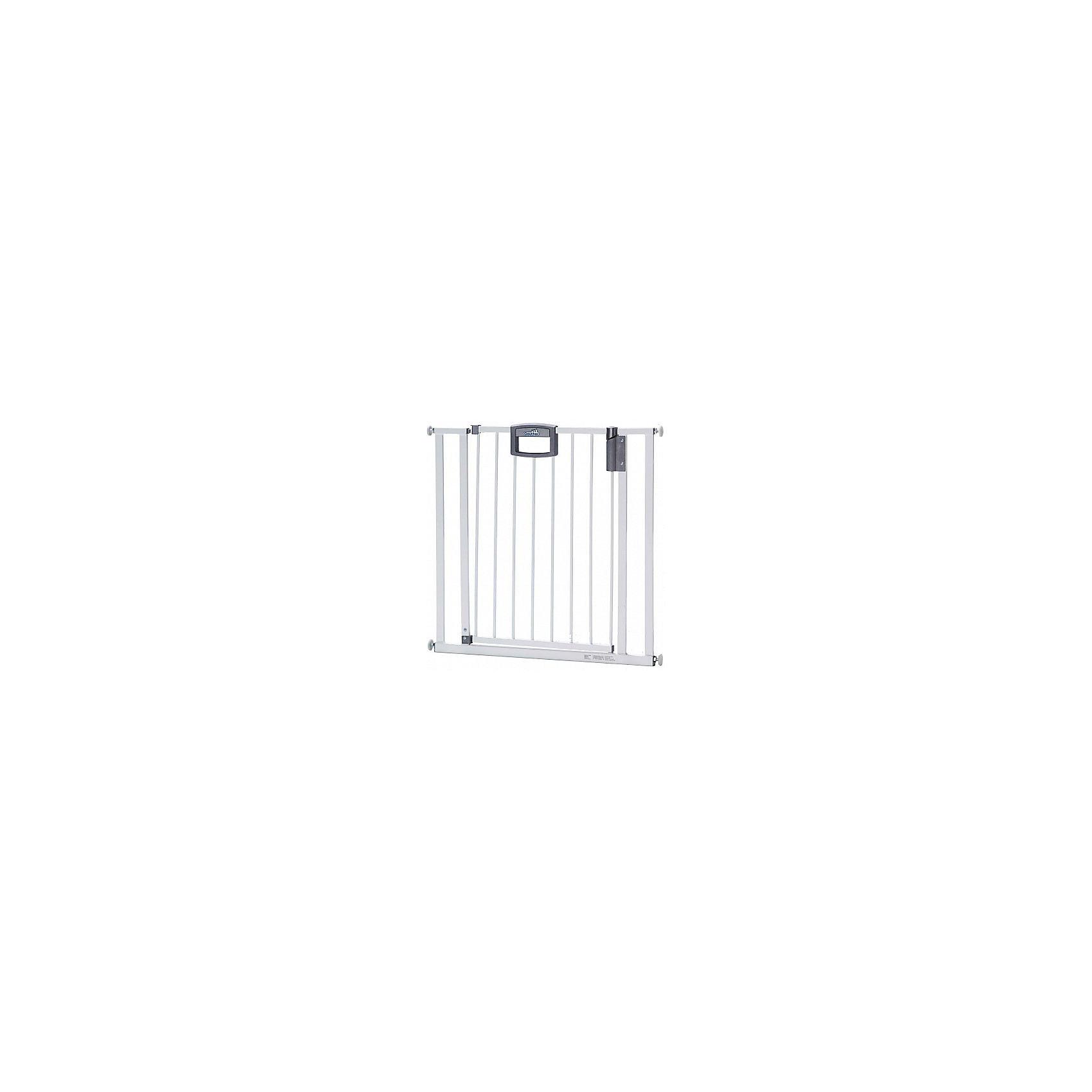 Барьеры-ворота Easy Lock 84,5*92,5*81,5см, GeutherБарьер легко устанавливаются в дверные проемы шириной от 84,5 до 92,5 см без помощи дрели или каких-либо других инструментов, после демонтажа ворота не оставляют следов на стенах. Благодаря барьеру Вы спокойно сможете заниматься своими делами, а в это время Ваш малыш будет надёжно защищён. <br>Особенности:<br>- Удобный механизм защелкивания, легко устанавливаются без специального крепления.<br>- При установке не требуется дрель или инструменты, после демонтажа не оставляют следов на стенах.<br>- Защищает ребёнка от нежелательного прохода через дверной проём или падения с лестницы.<br>- Уникальный защитный механизм позволит взрослому легко пройти через ворота, создавая в то же время непреодолимое препятствие для малыша .<br>- Открывается в обоих направлениях.<br><br>Дополнительная информация:<br><br>- Ширина: 84.5-92.5 см.<br>- Высота: 81.5 см.<br>- Материал: металл, пластик.<br><br>Купить барьер-ворота Easy Lock 84,5*92,5*81,5см., от Geuther, можно в нашем магазине.<br><br>Ширина мм: 950<br>Глубина мм: 860<br>Высота мм: 810<br>Вес г: 9000<br>Возраст от месяцев: 0<br>Возраст до месяцев: 24<br>Пол: Унисекс<br>Возраст: Детский<br>SKU: 5093564