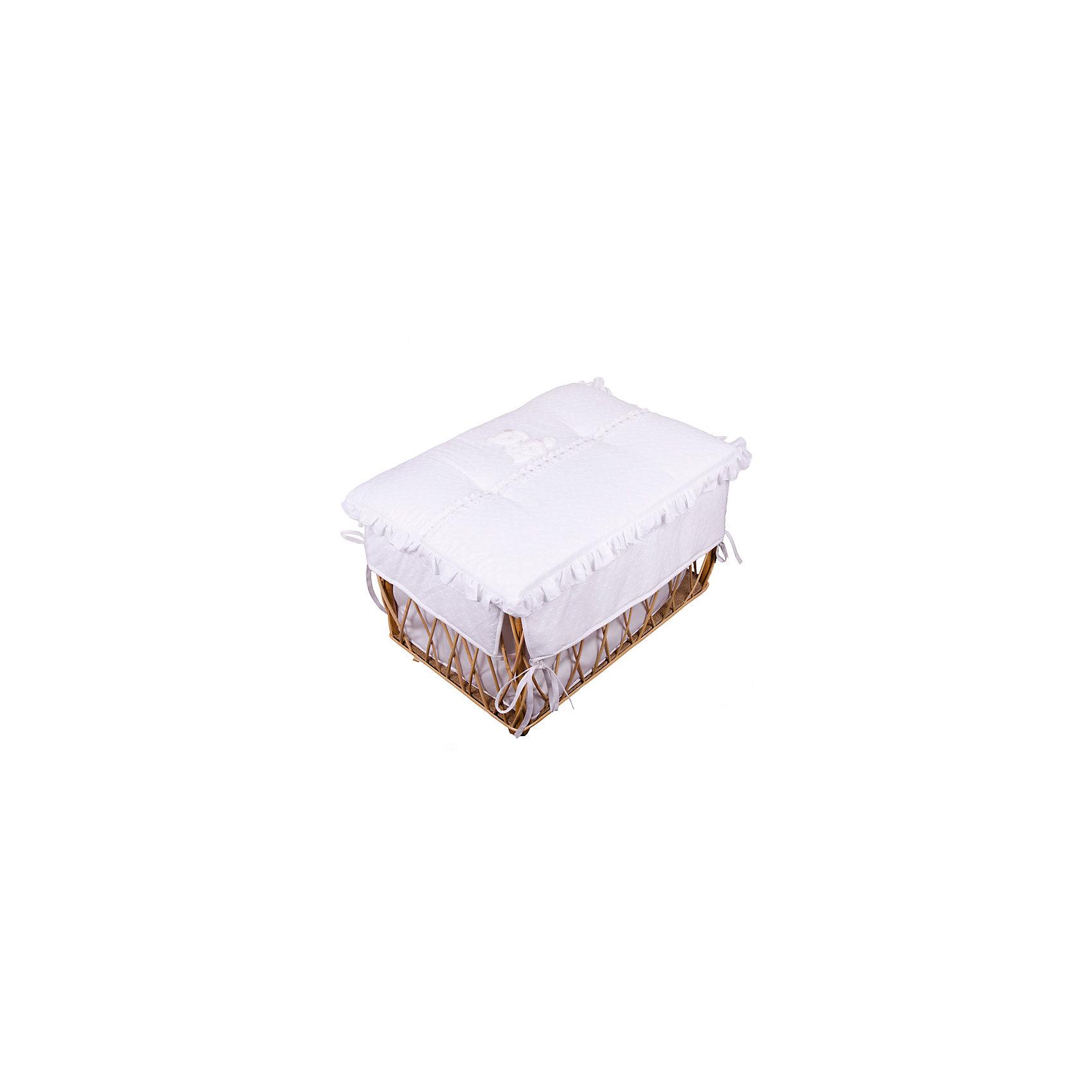 Italbaby Плетеный ящик для игрушек AMORE,Italbaby, белый